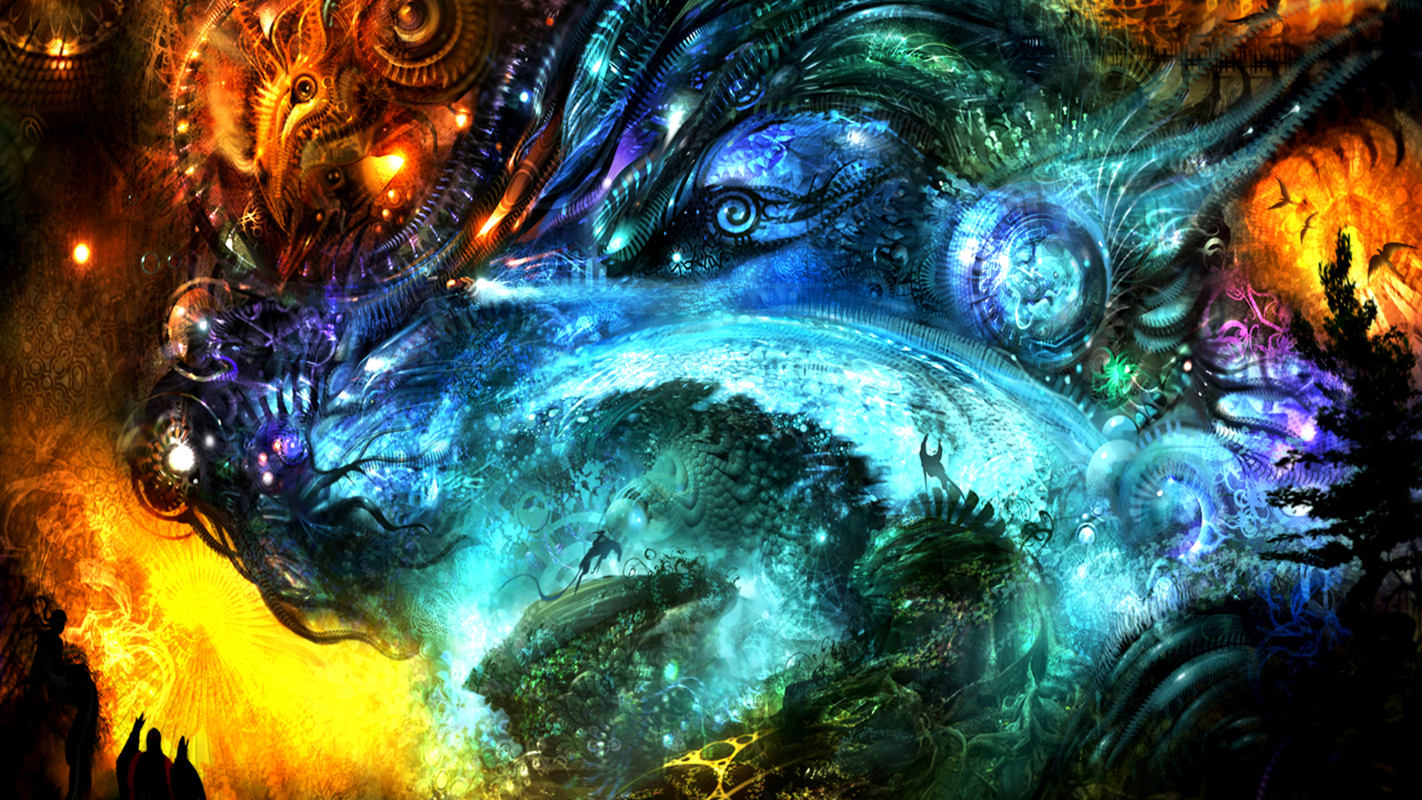 fantasy art science fiction HD Wallpaper