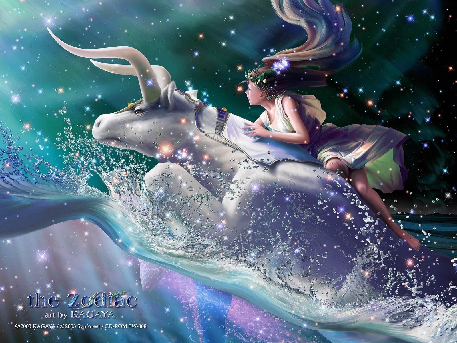 fantasy art Zodiac Taurus HD Wallpaper