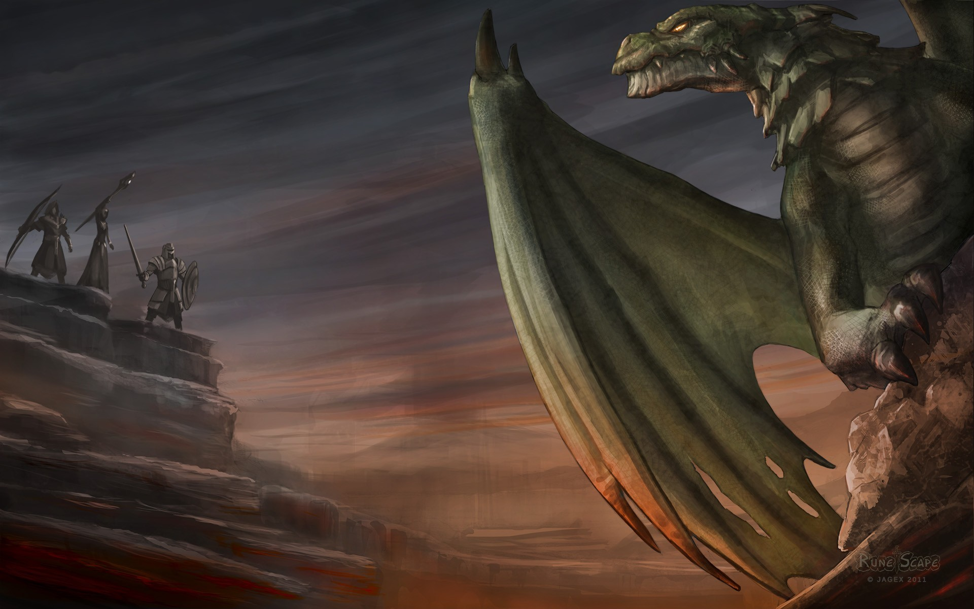 fantasy Dragons runescape HD Wallpaper