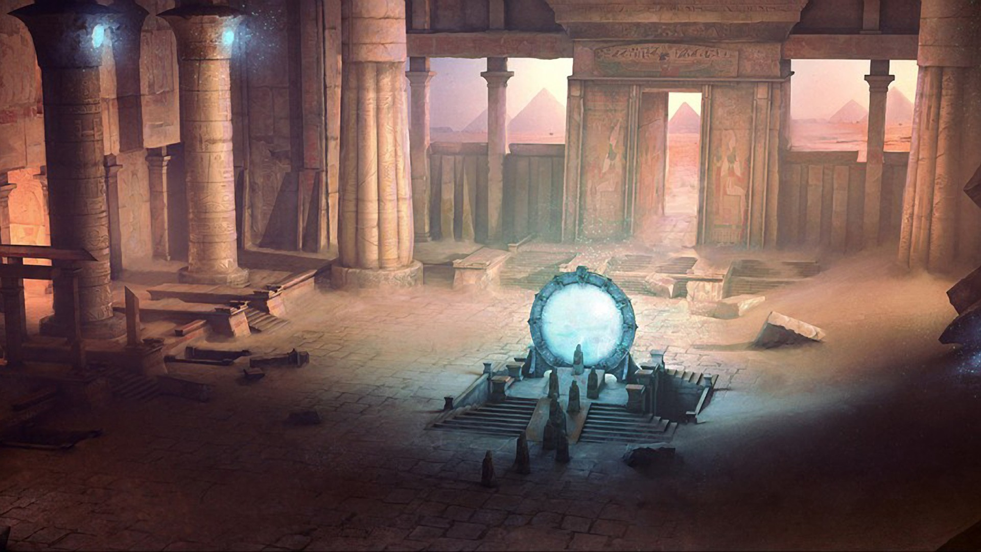 fantasy Landscapes rocks stargate HD Wallpaper