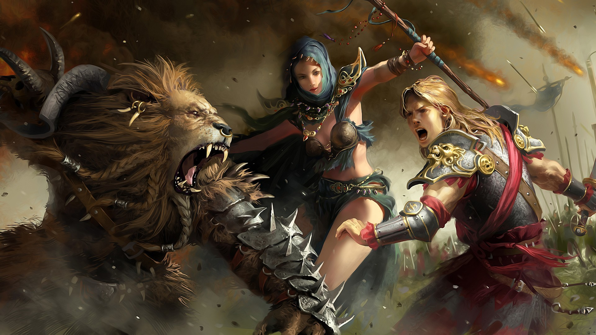 fantasy video games armor HD Wallpaper