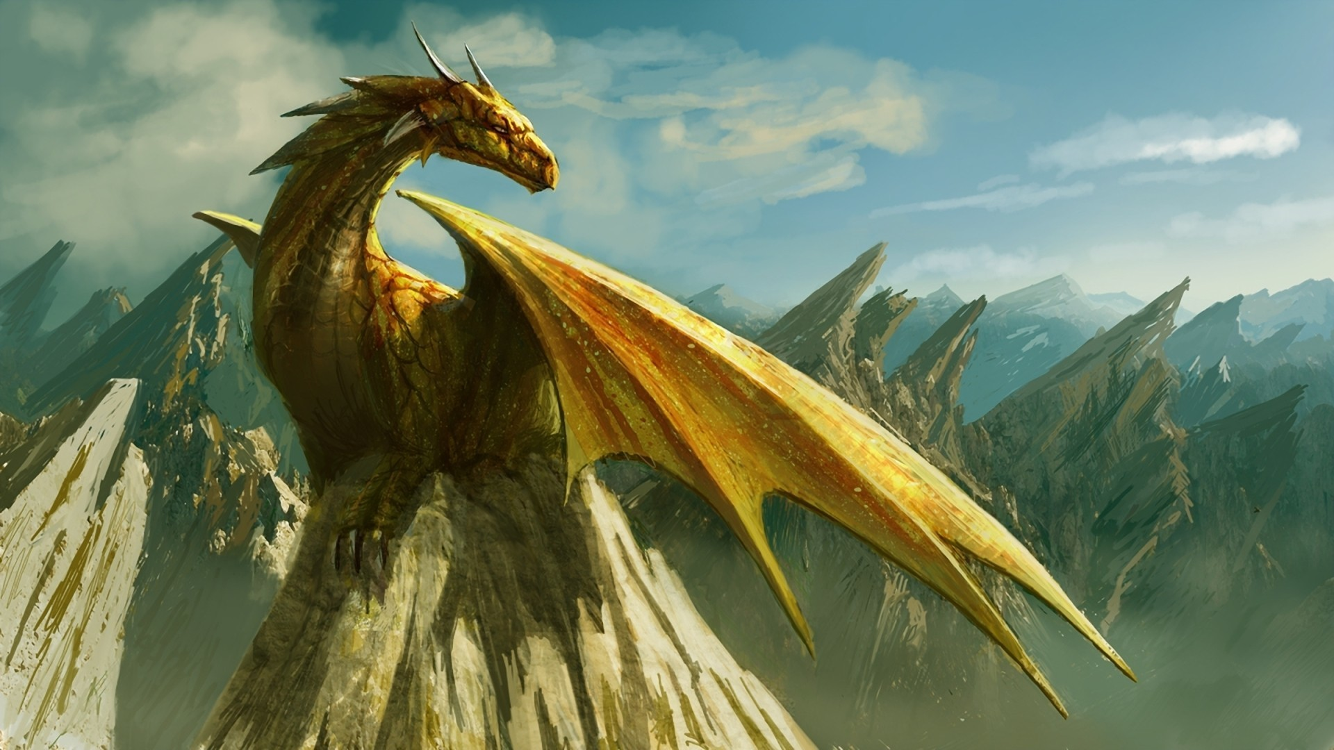 fantasy wings Dragons artwork HD Wallpaper