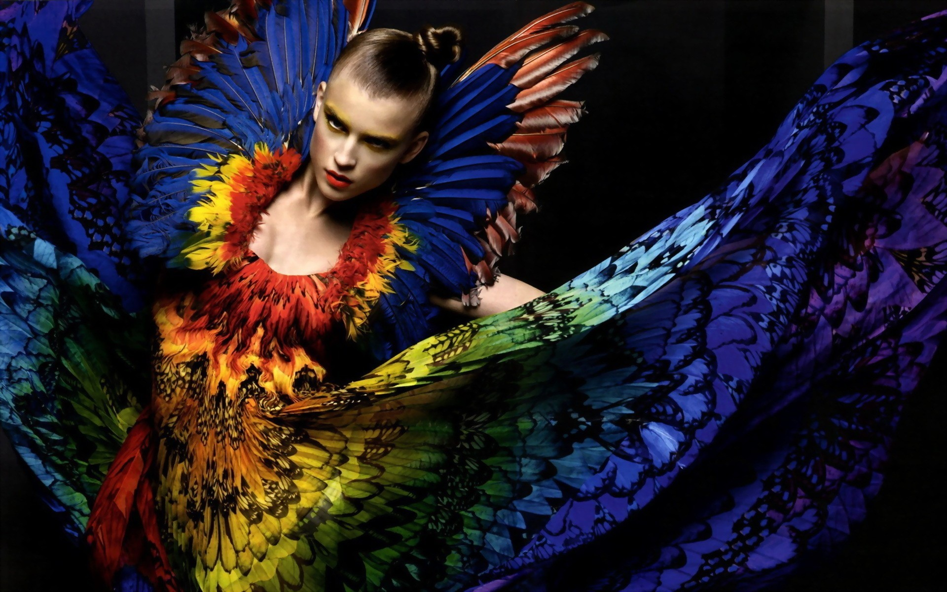fashion photography multicolor fashion HD Wallpaper