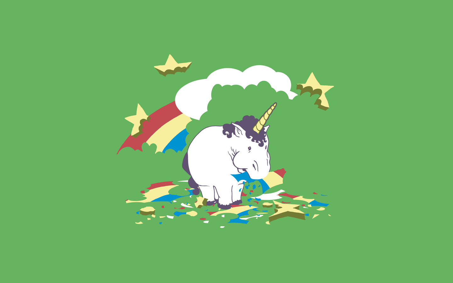 fat unicorn Animals HD Wallpaper