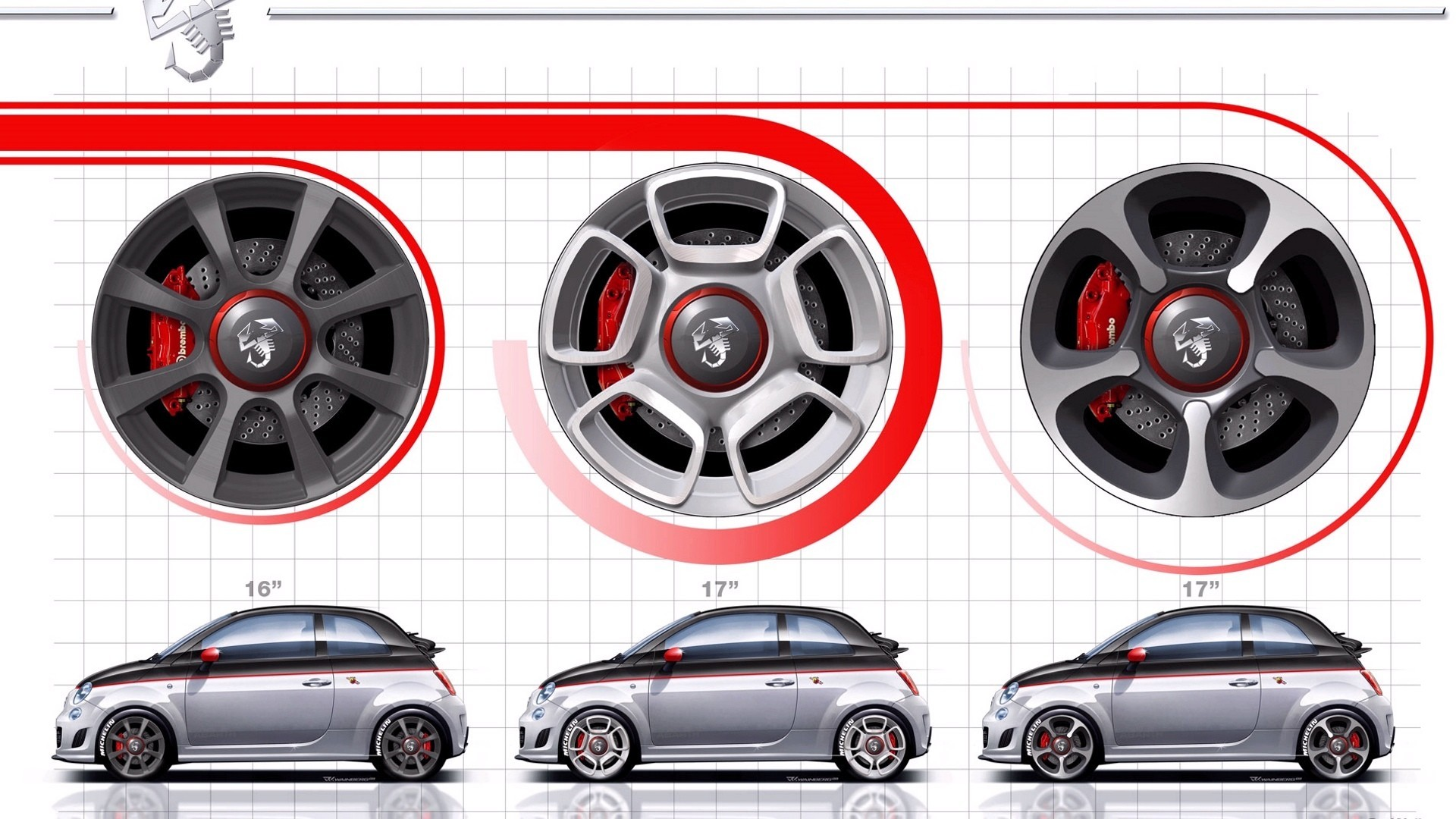Fiat 500 Rims cars HD Wallpaper