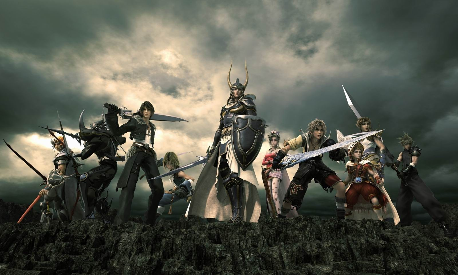 Final Fantasy armor Swords HD Wallpaper