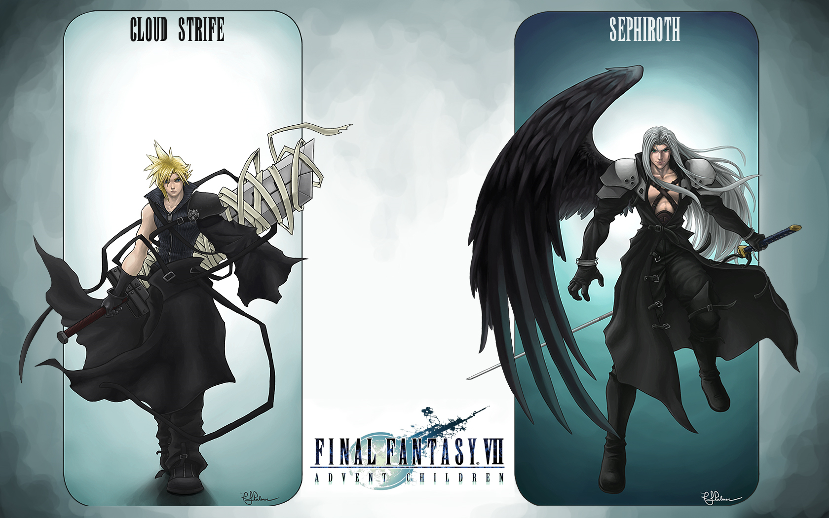 final fantasy Sephiroth cloud HD Wallpaper