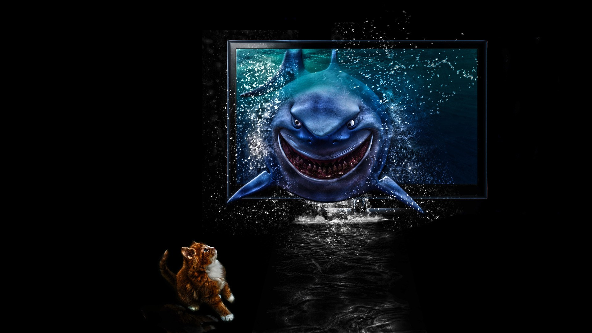 Finding Nemo Sharks HD Wallpaper