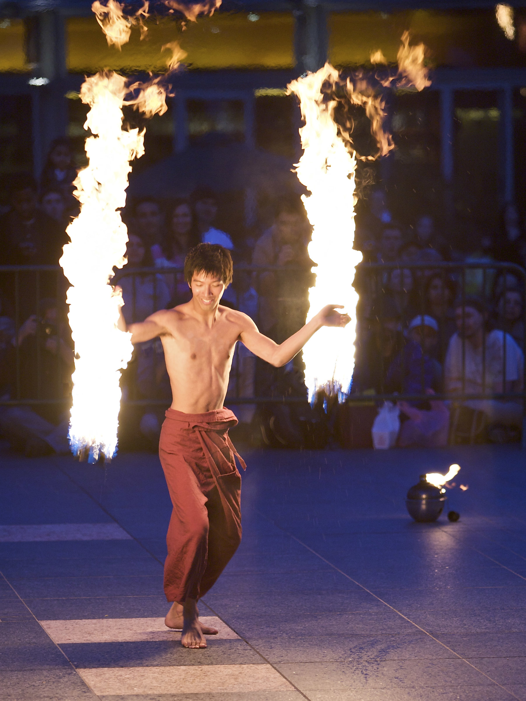 fire Expo dancing flames HD Wallpaper