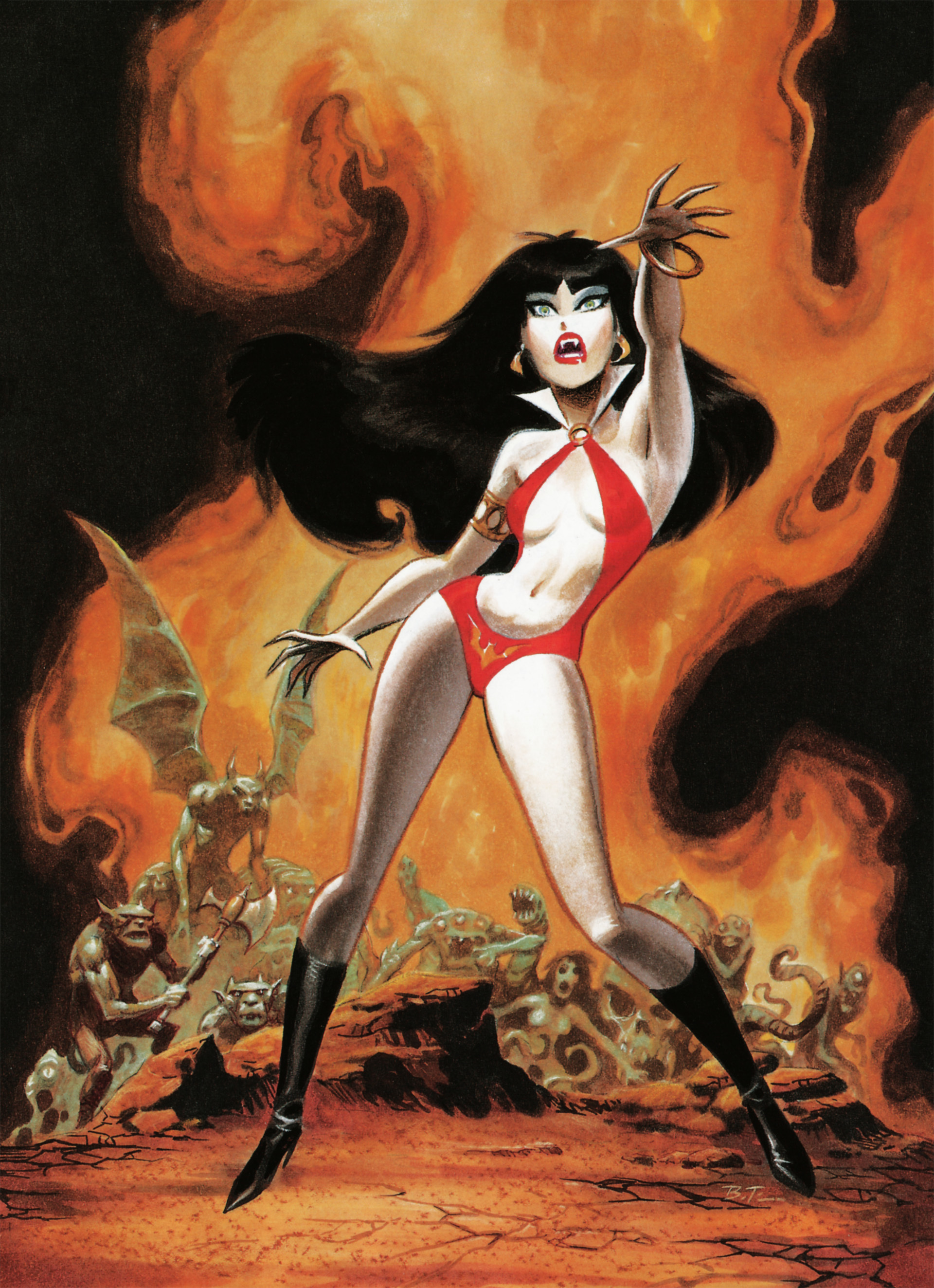 fire Vampirella bats HD Wallpaper