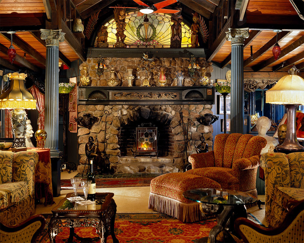 fireplace architecture design HD Wallpaper