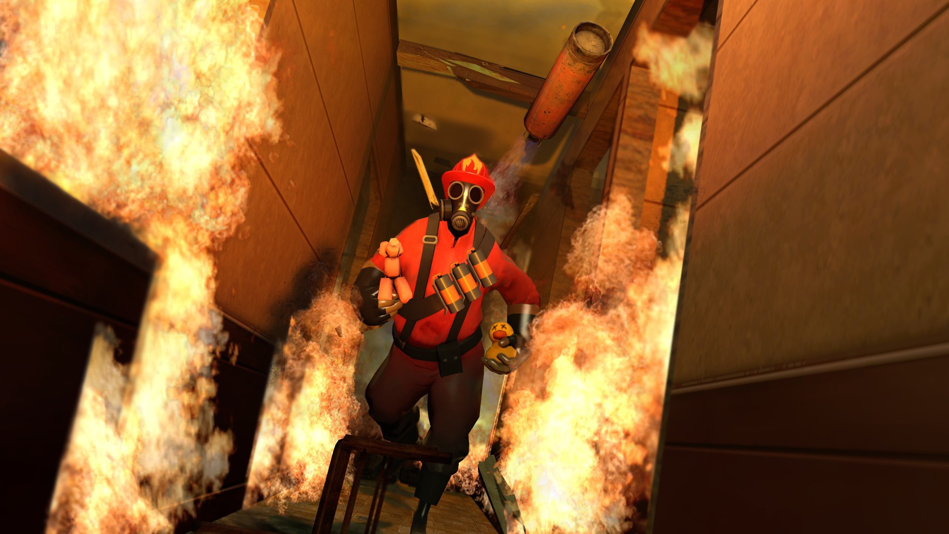 fireworks Dogs Pyro TF2 HD Wallpaper