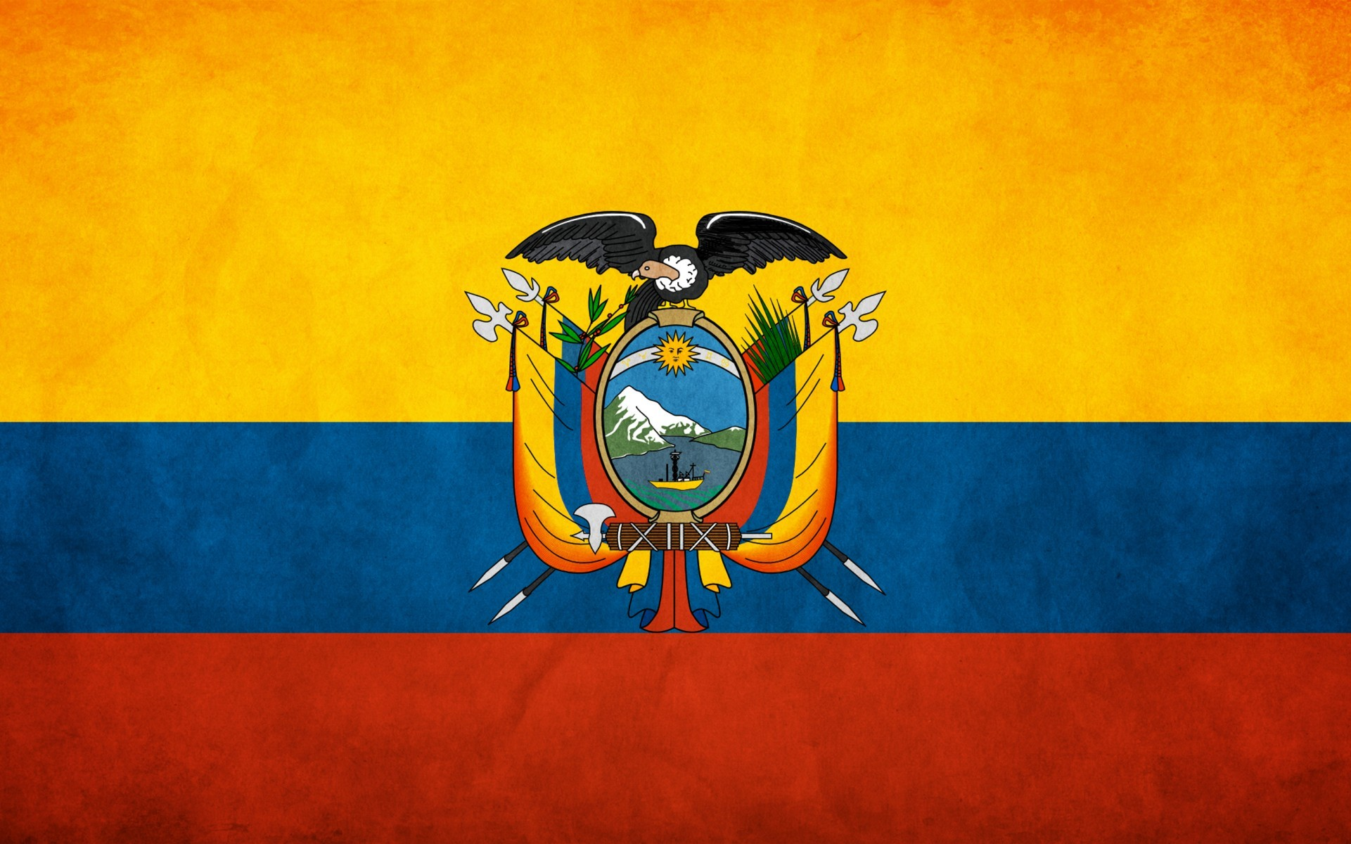 Flags Ecuador HD Wallpaper
