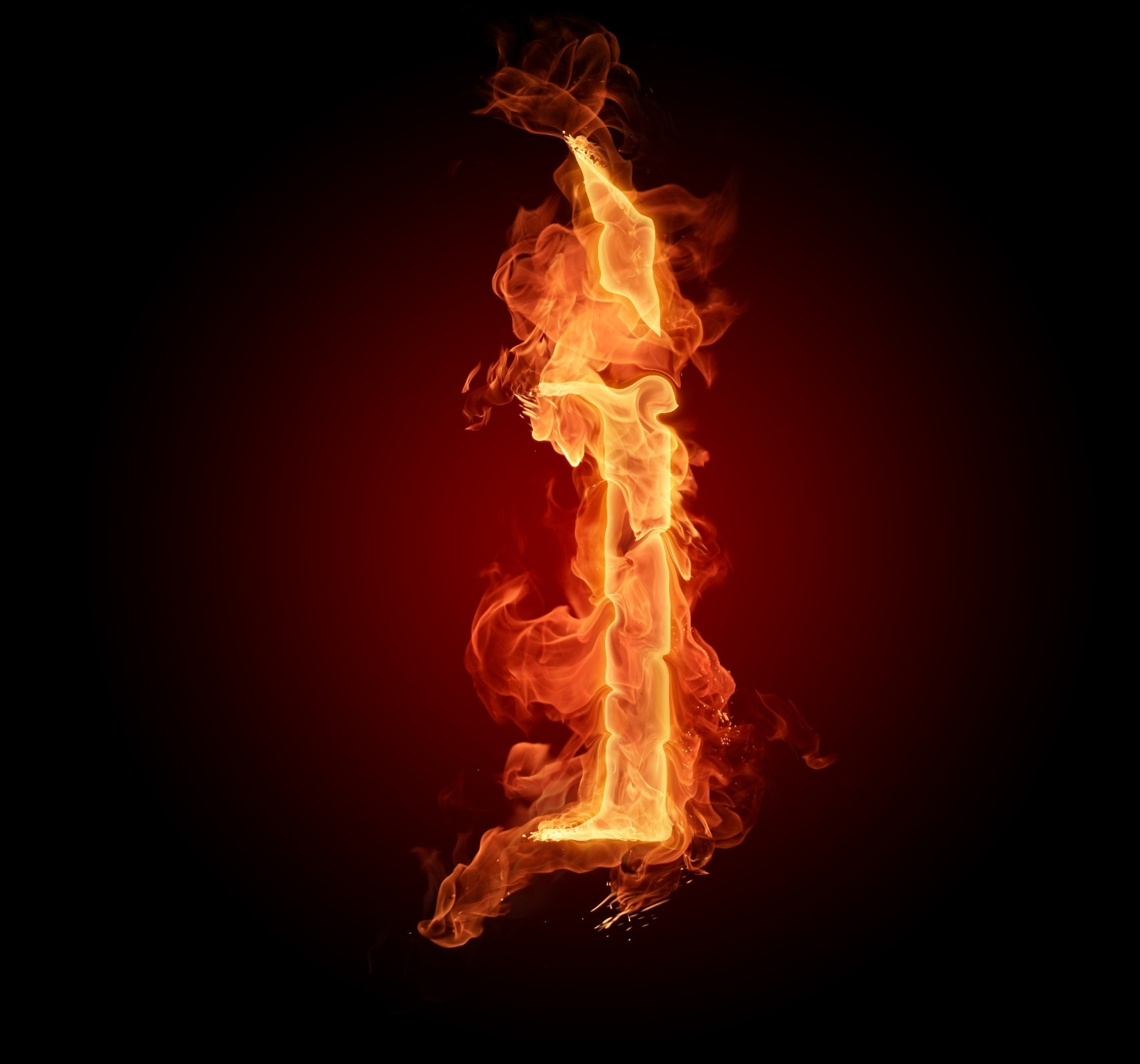 flames fire Typography alphabet HD Wallpaper