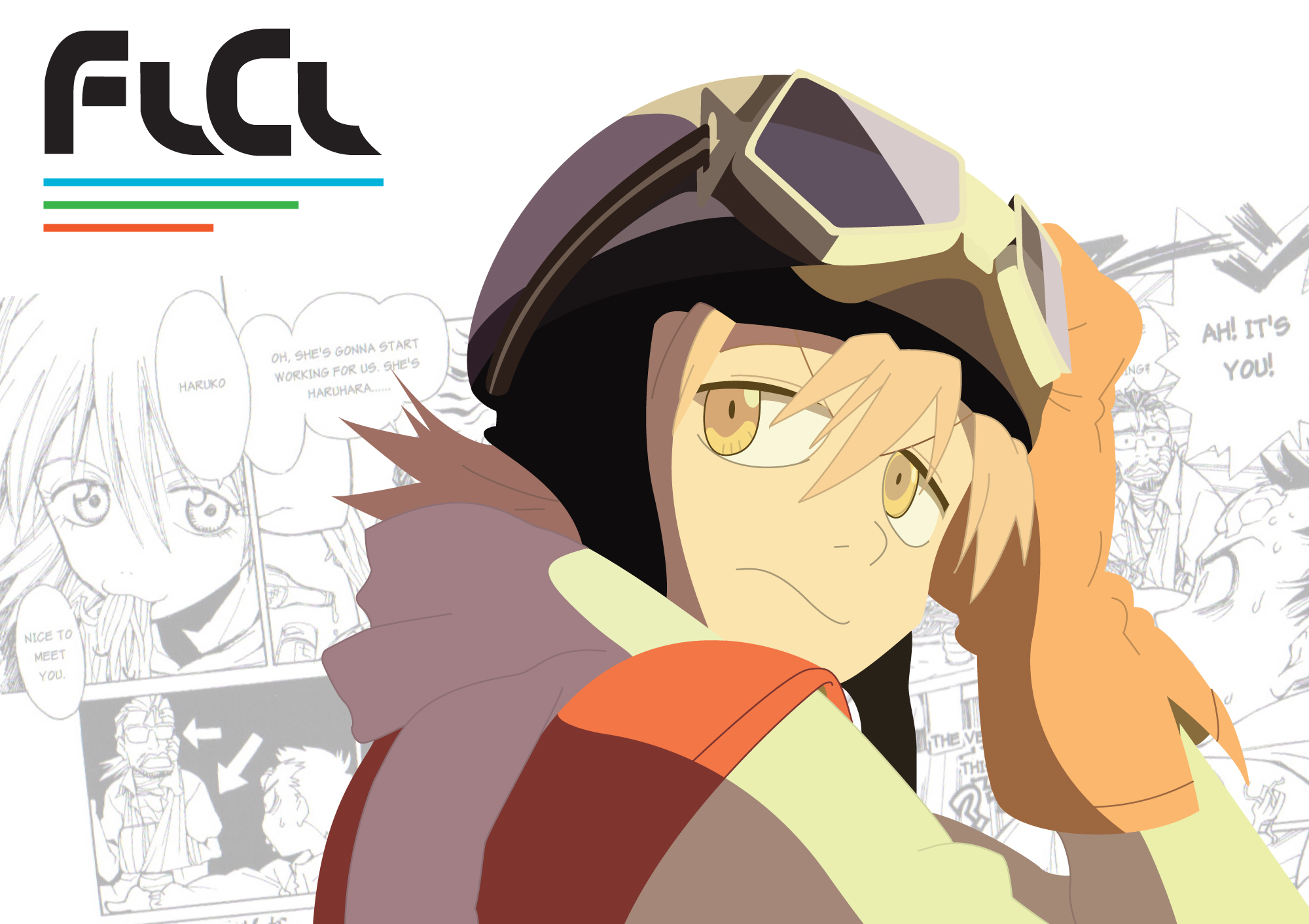 FLCL Fooly Cooly Haruhara HD Wallpaper