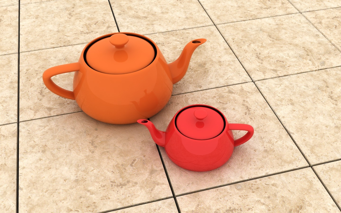 floor animation teapots 3d HD Wallpaper