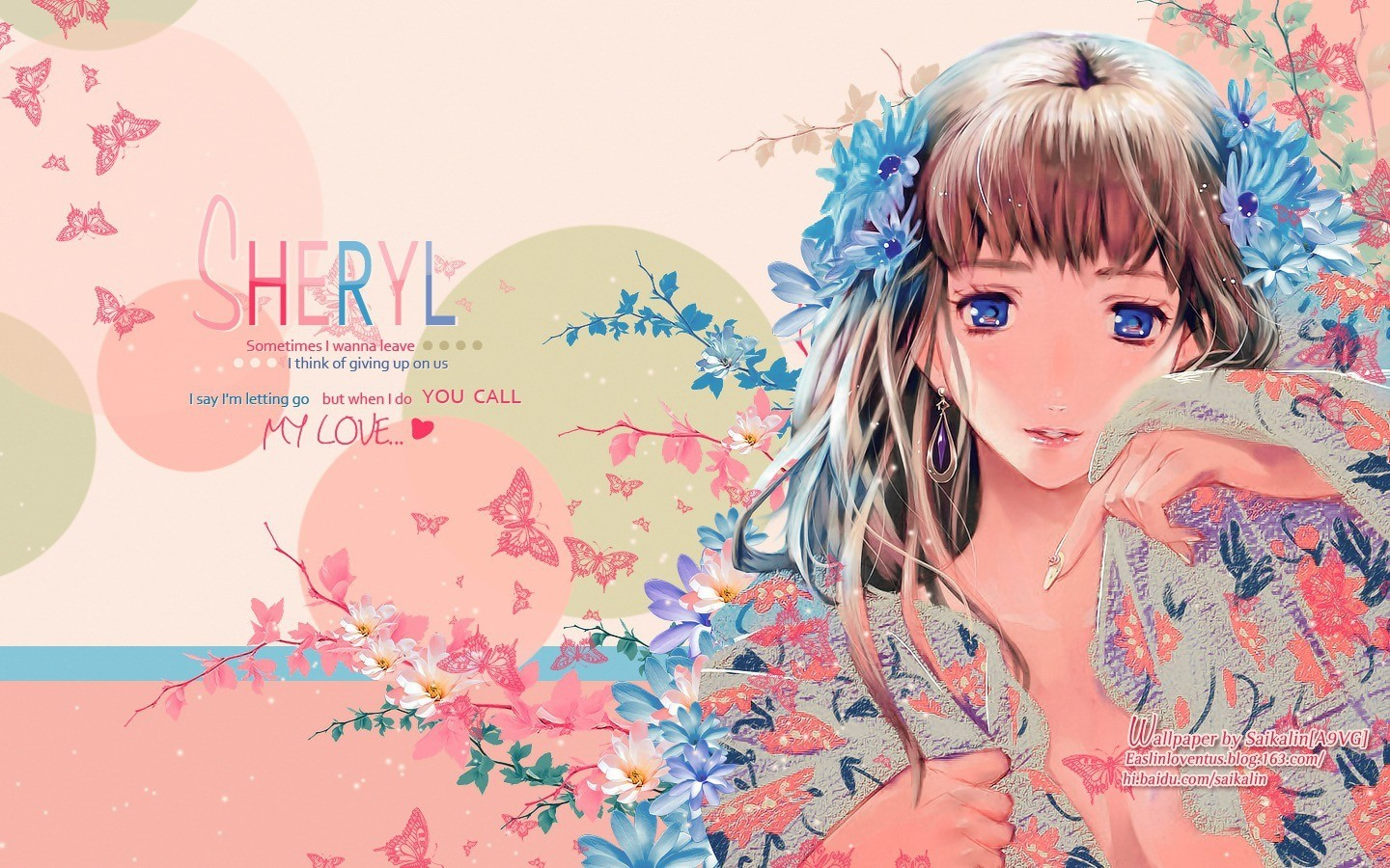 Flowers blue eyes macross HD Wallpaper