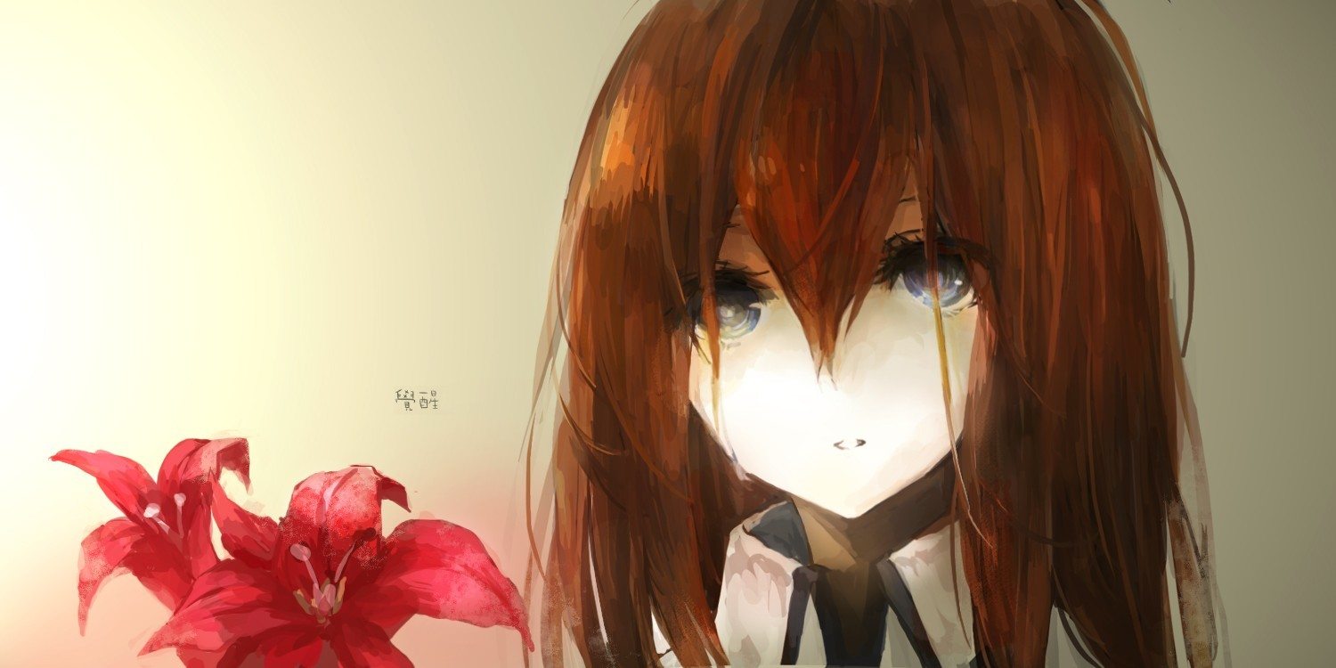 Flowers steins gate makise HD Wallpaper