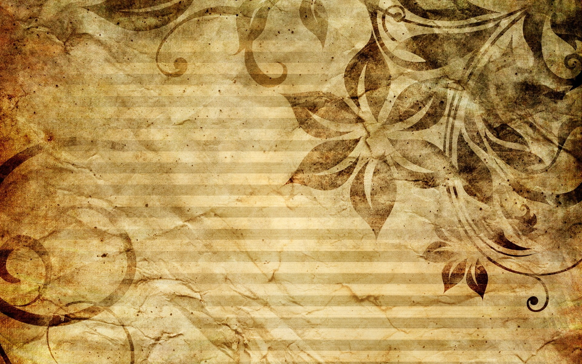 Flowers wall Textures sepia HD Wallpaper