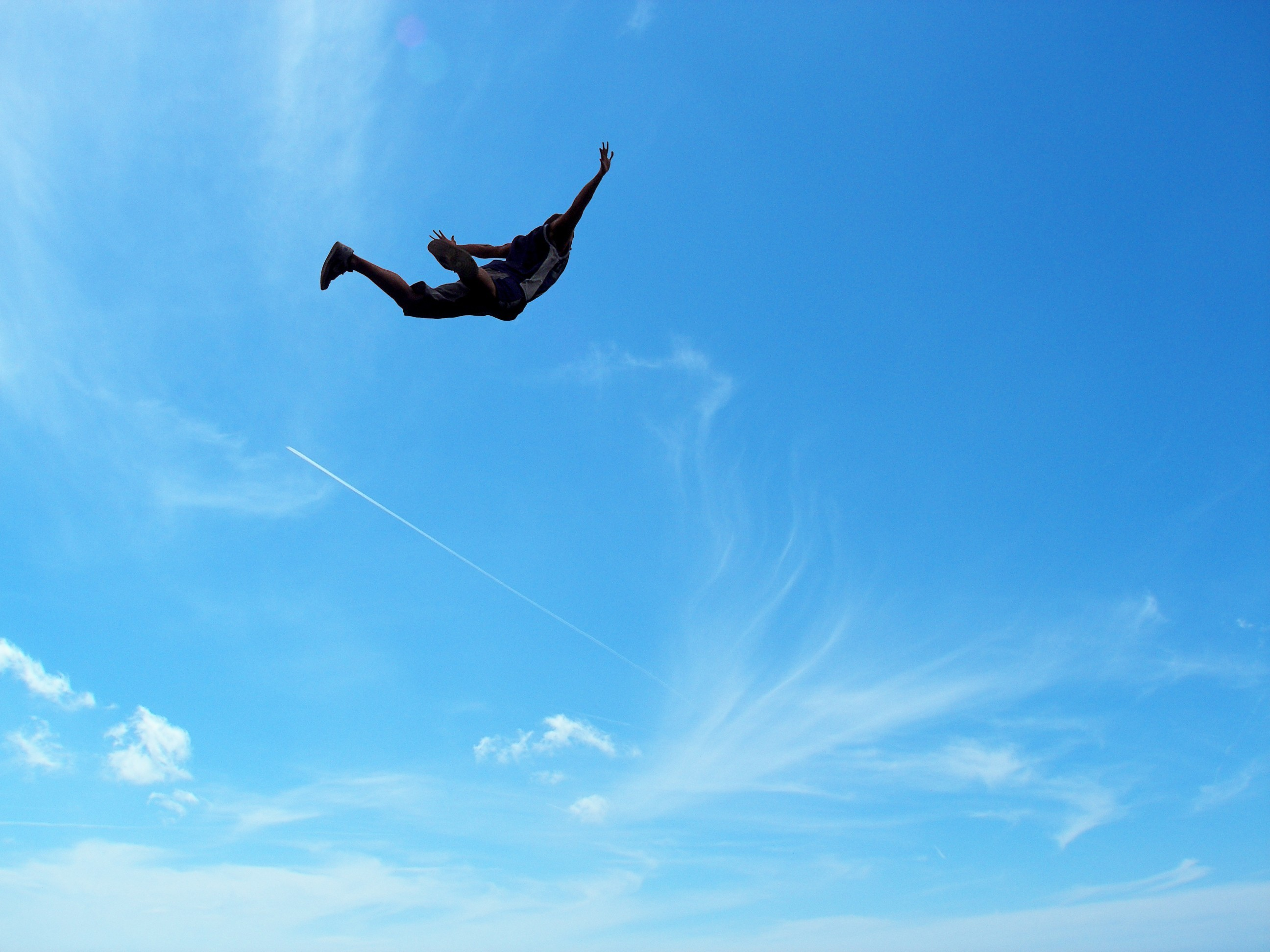 flying Men jumping extreme HD Wallpaper