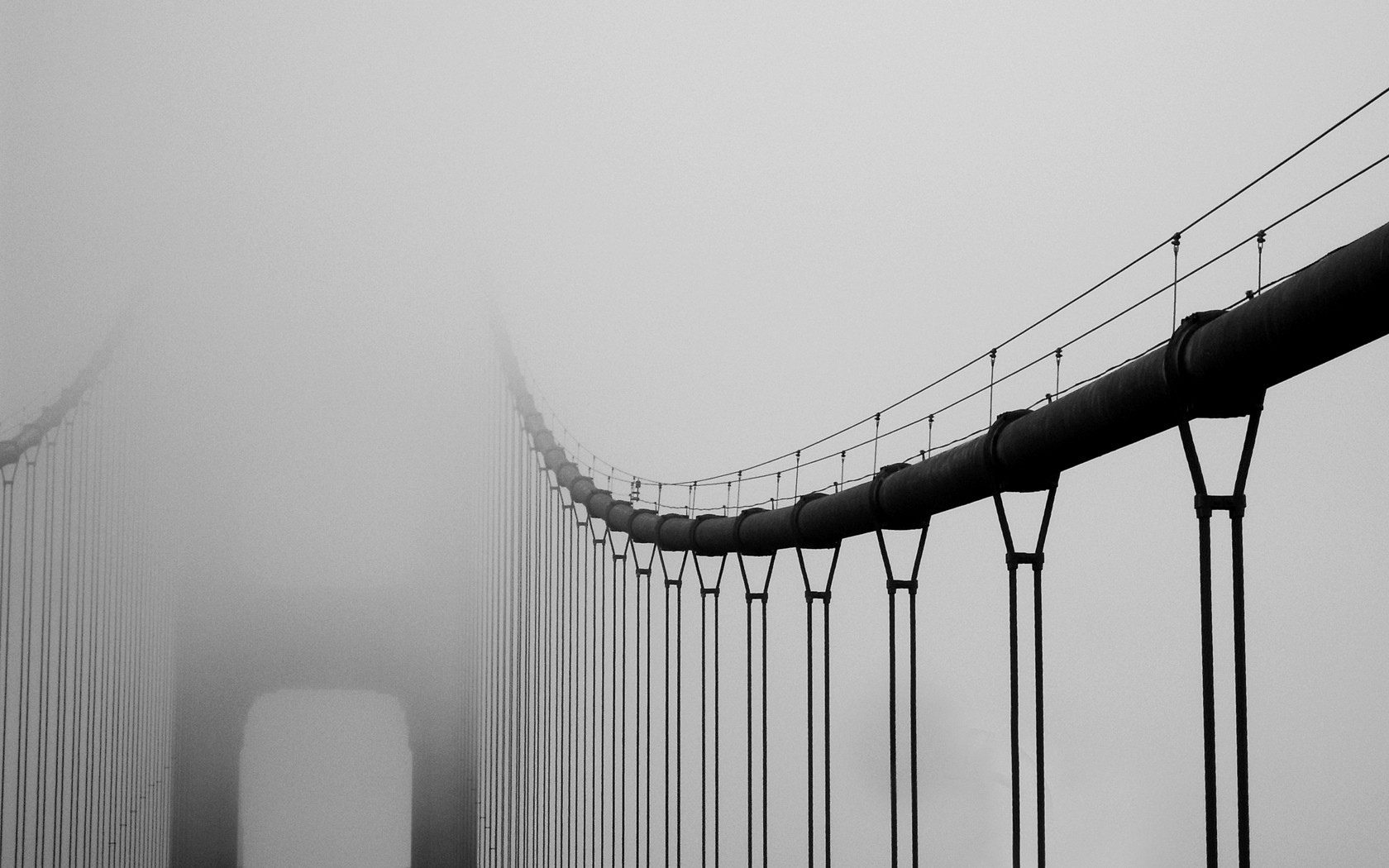 fog Bridges lines HD Wallpaper