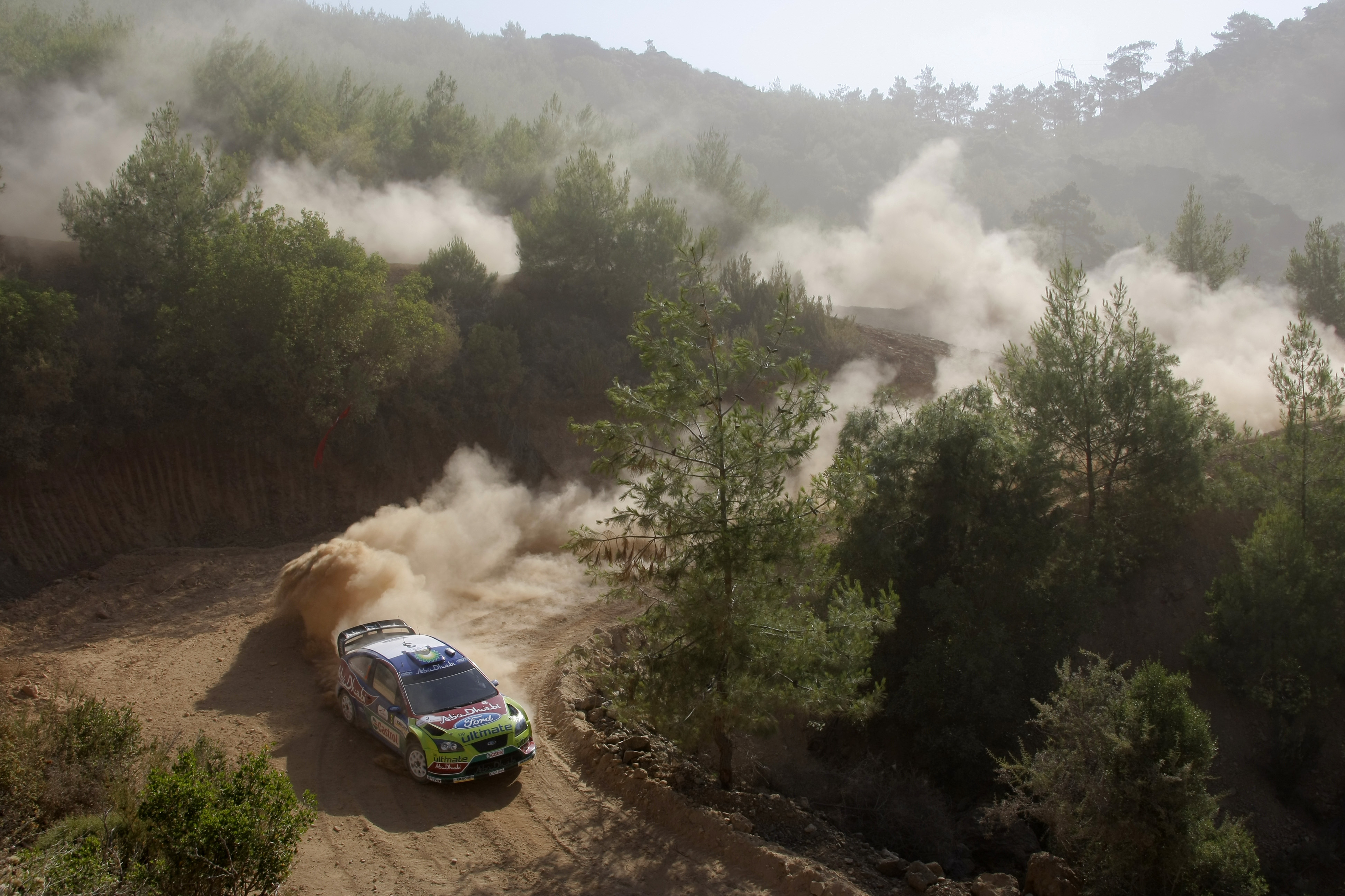 Ford dust rally drifting HD Wallpaper