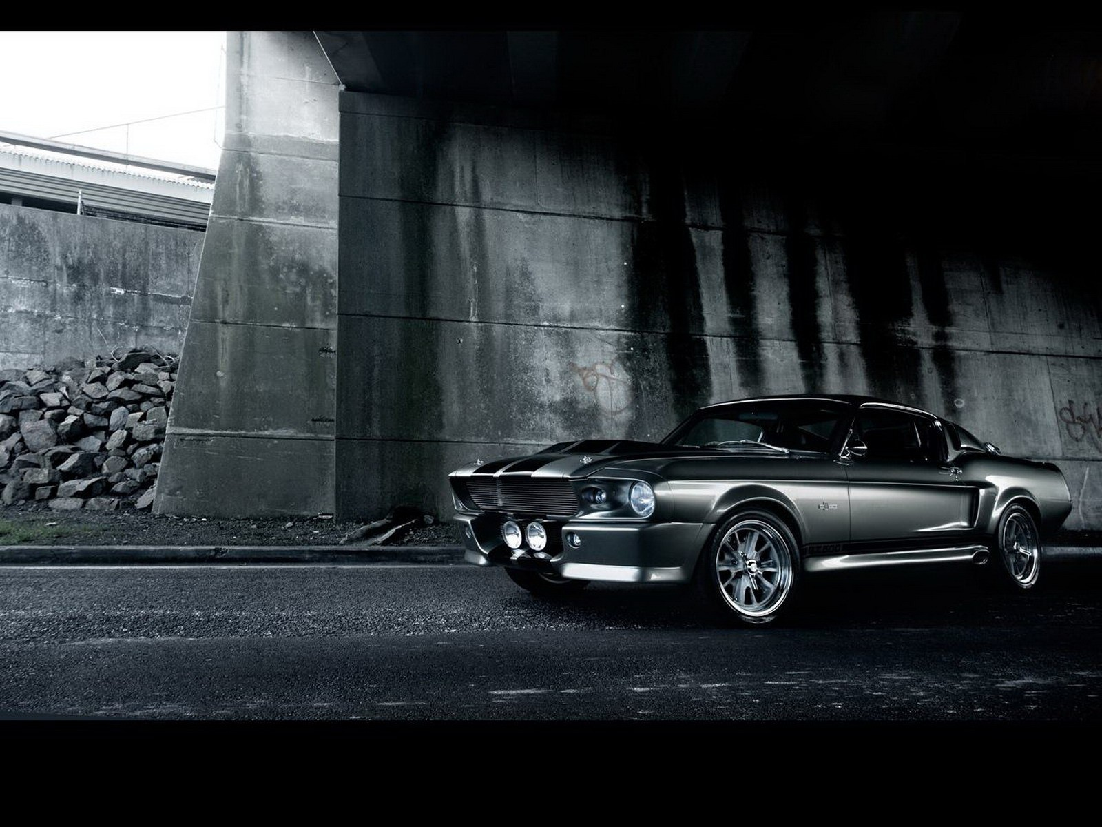 Ford muscle cars urban HD Wallpaper