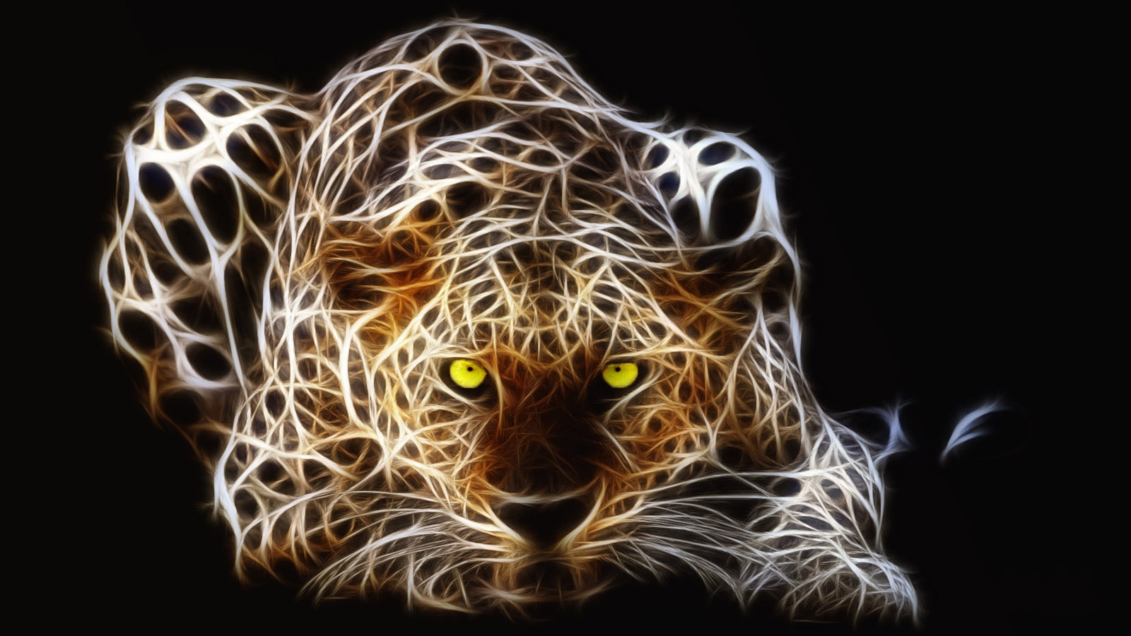 Fractalius Leopards HD Wallpaper