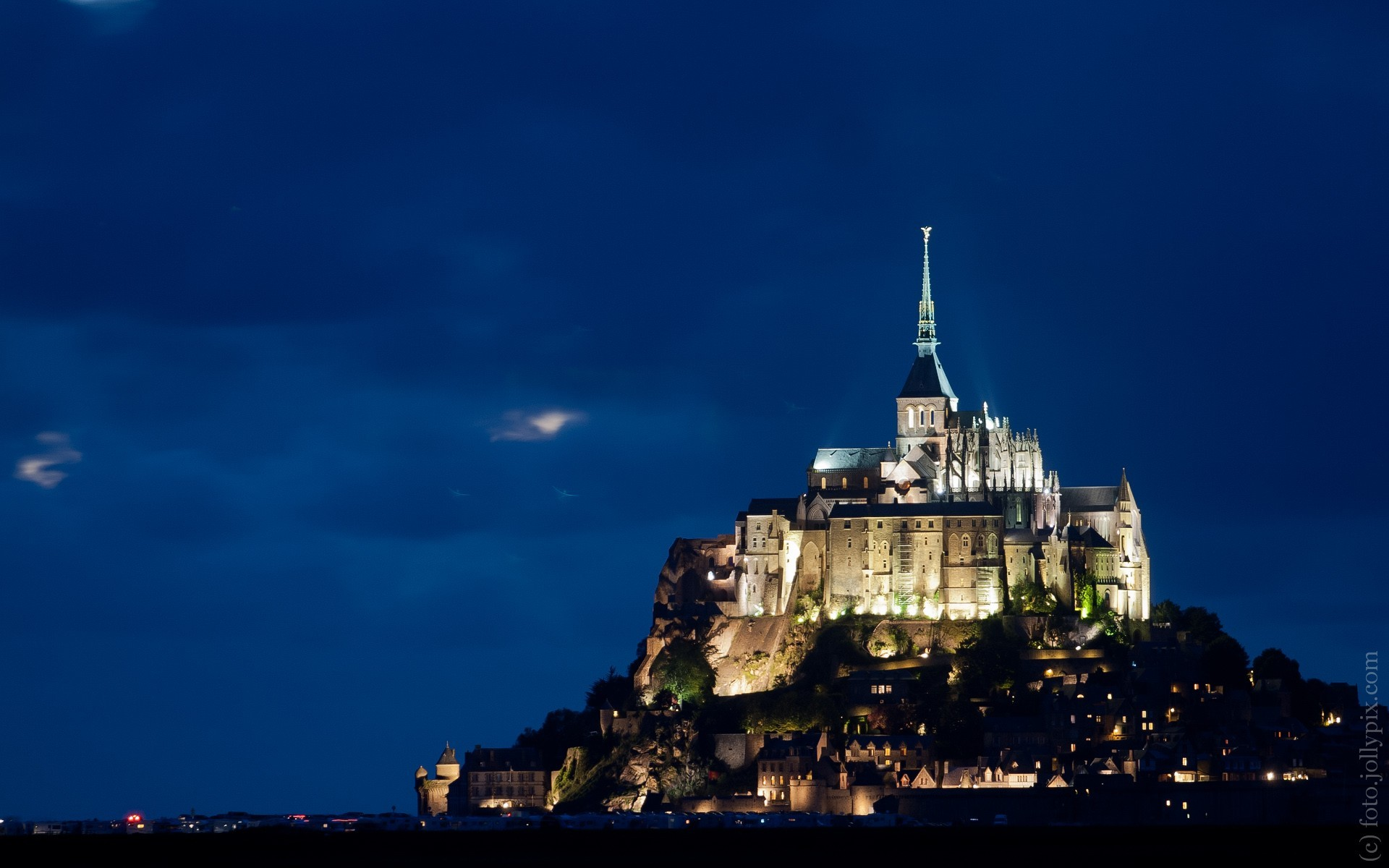 France landmark Le Mont HD Wallpaper