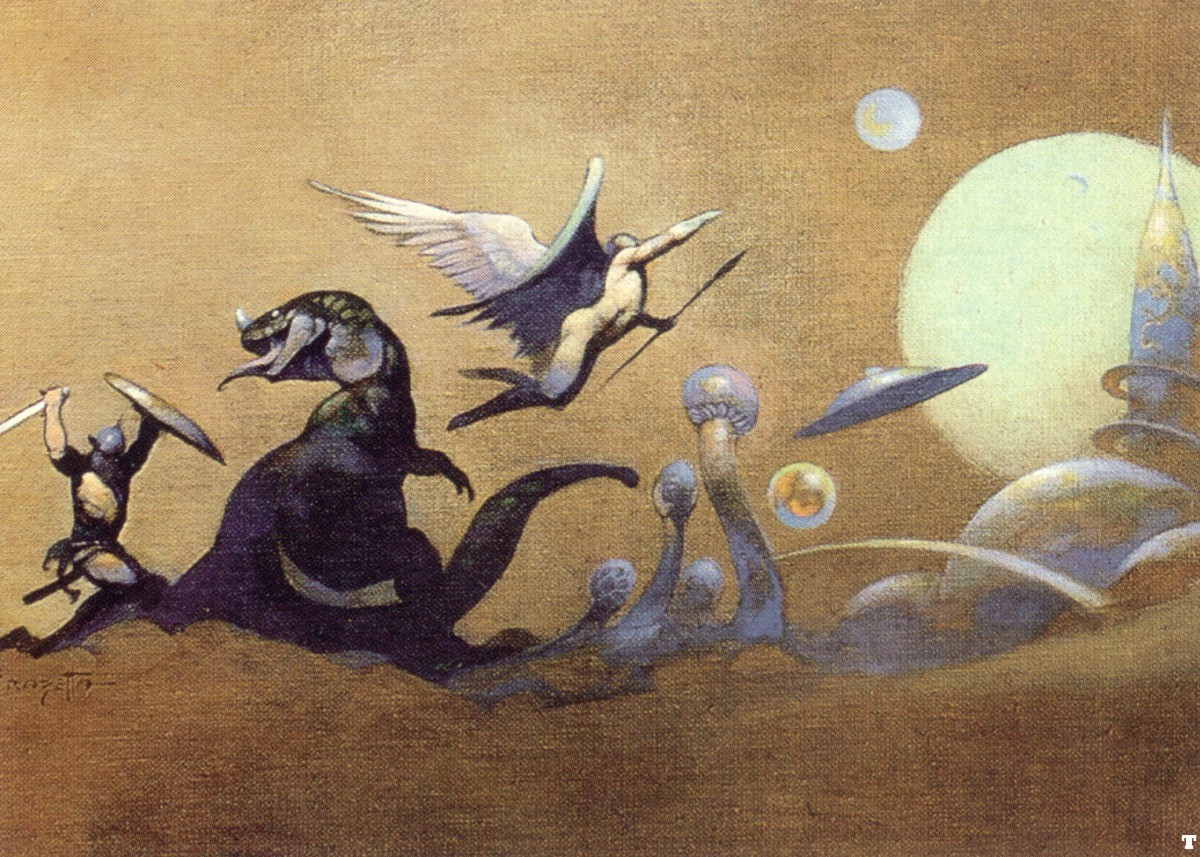 frank Frazetta fantasyworld high HD Wallpaper