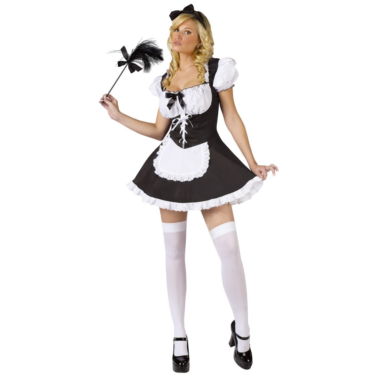 French maids Simple Background