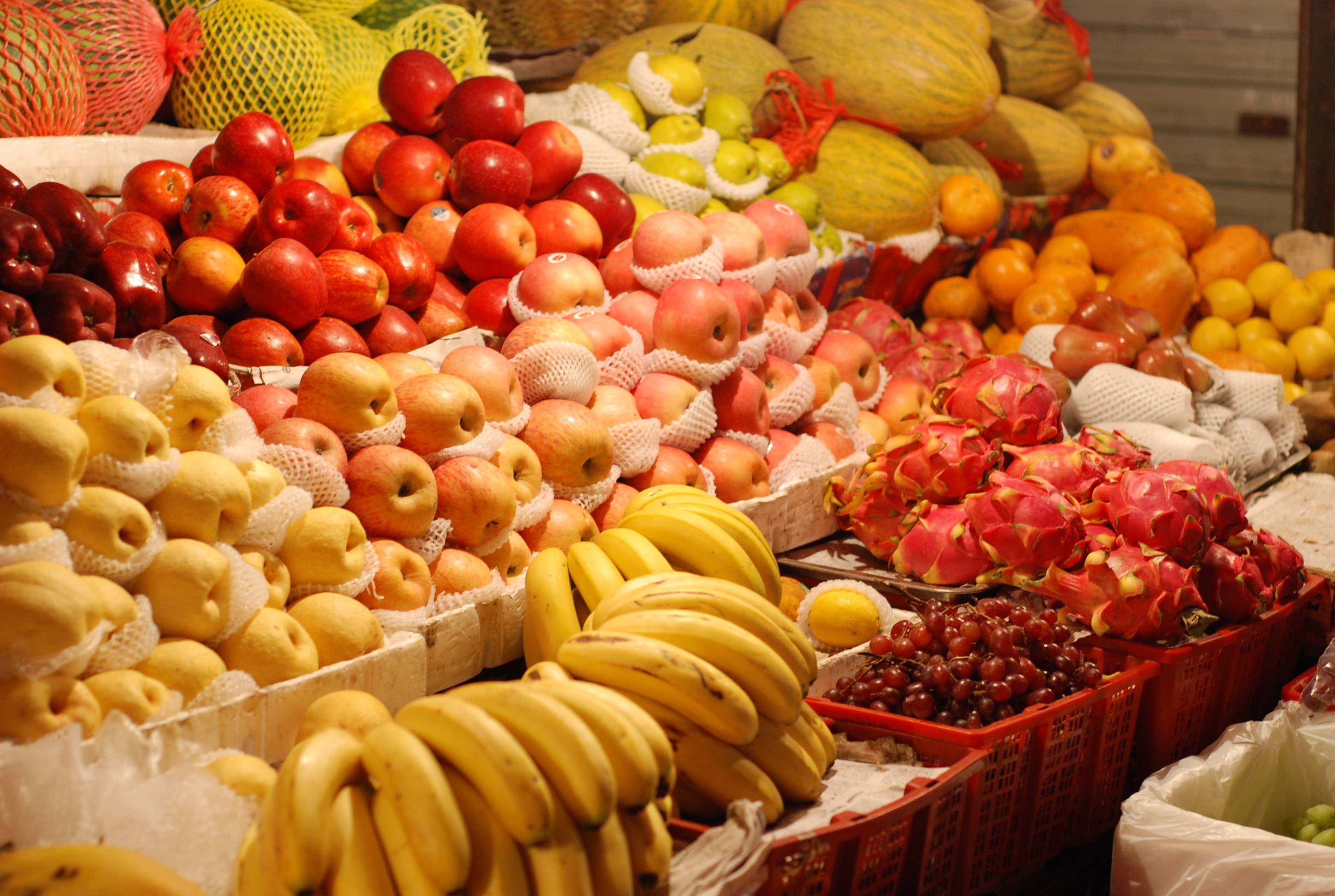 fruits bananas apples HD Wallpaper
