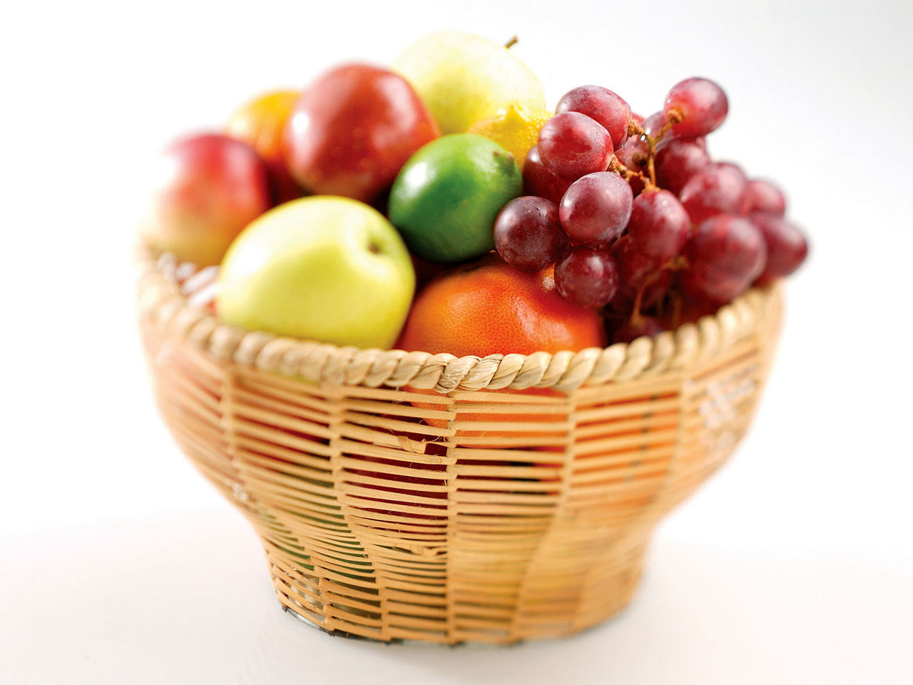 fruits baskets white background HD Wallpaper