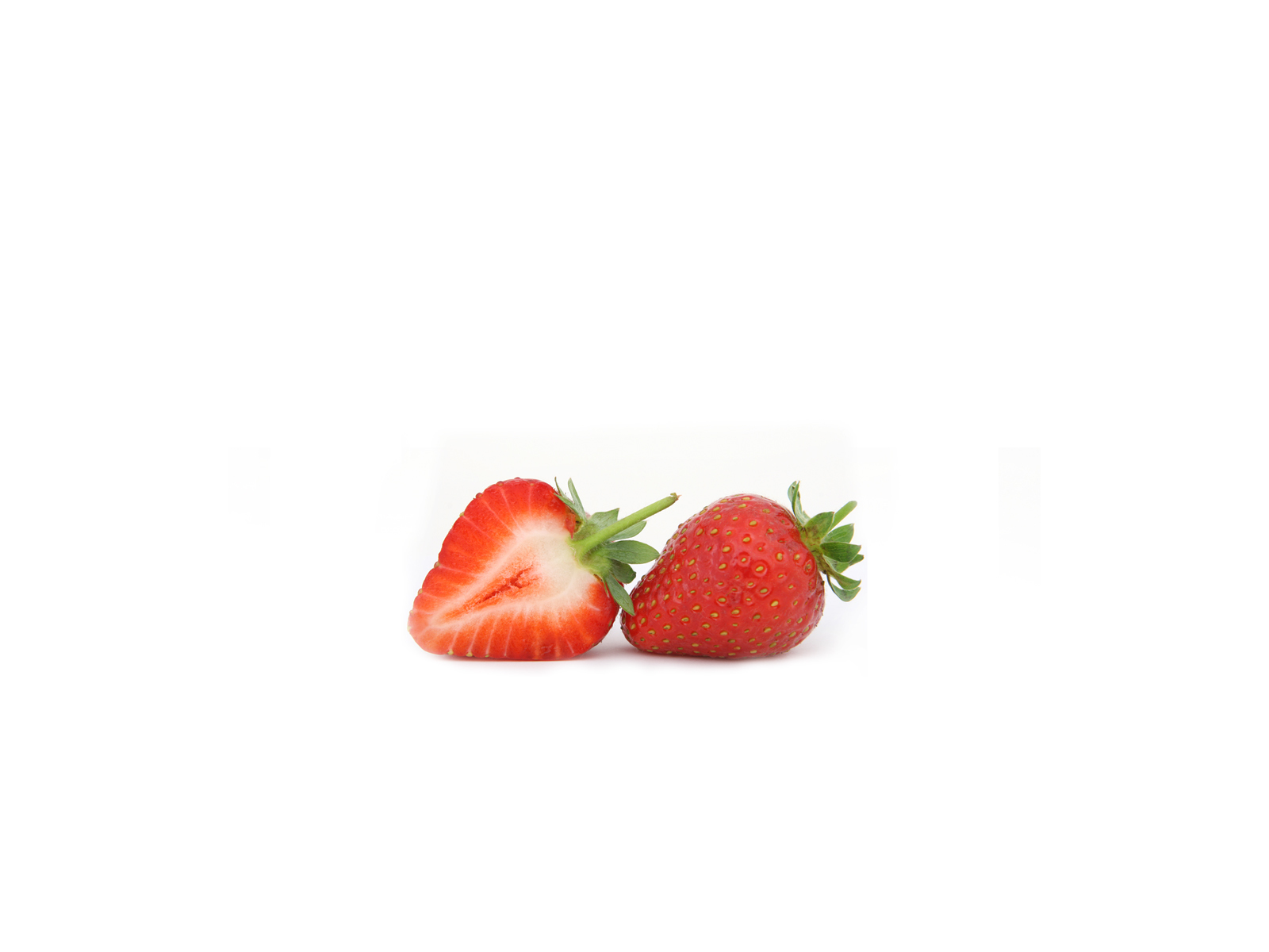 fruits food strawberries white