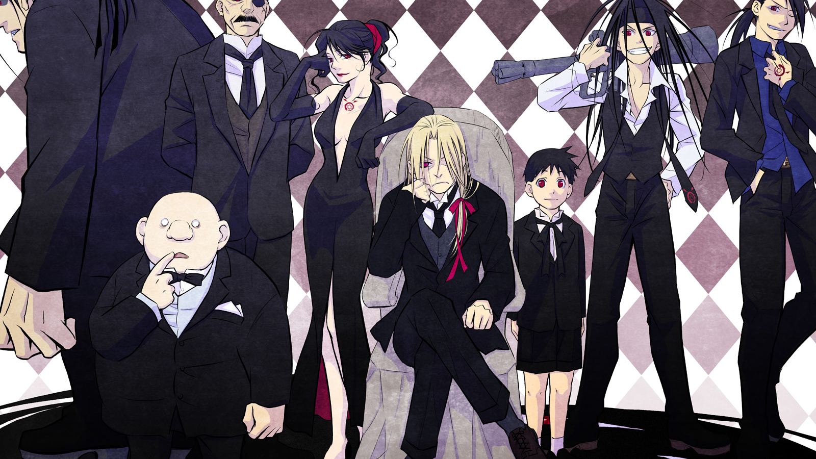 fullmetal alchemist suit homunculus HD Wallpaper
