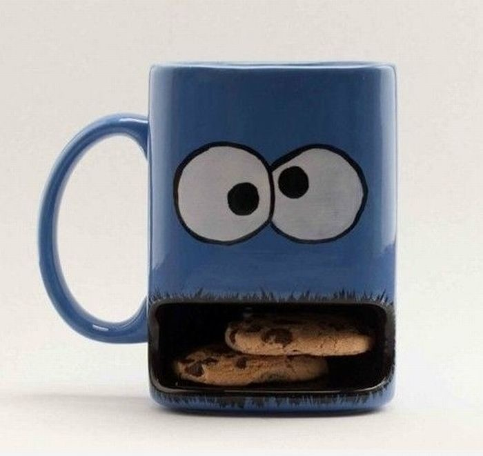 funny mugs Cookie Monster HD Wallpaper