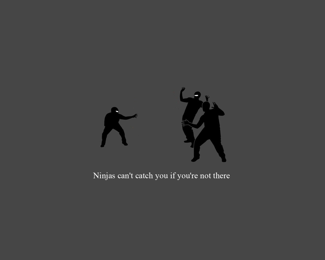 funny ninjas cant catch HD Wallpaper