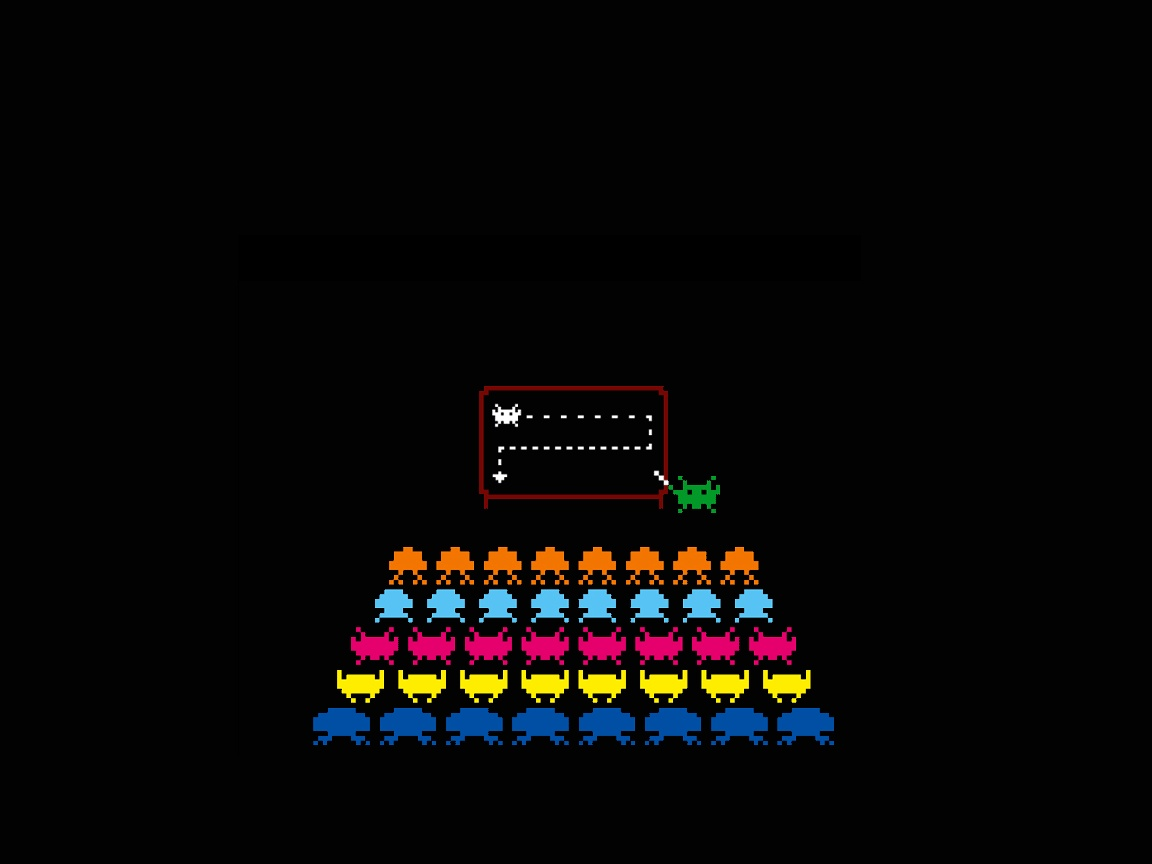 funny Space Invaders HD Wallpaper