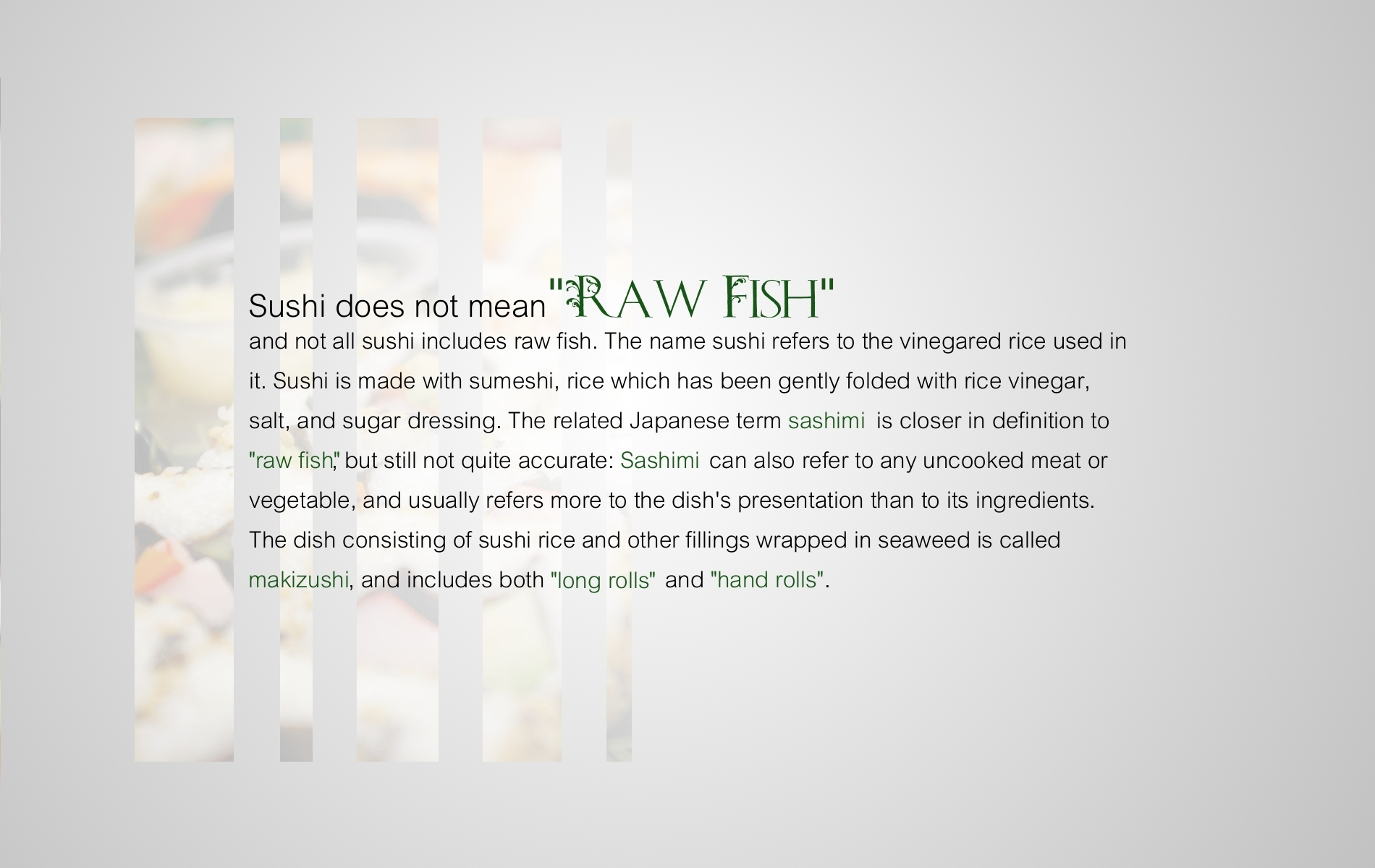 funny Typography sushi facts HD Wallpaper