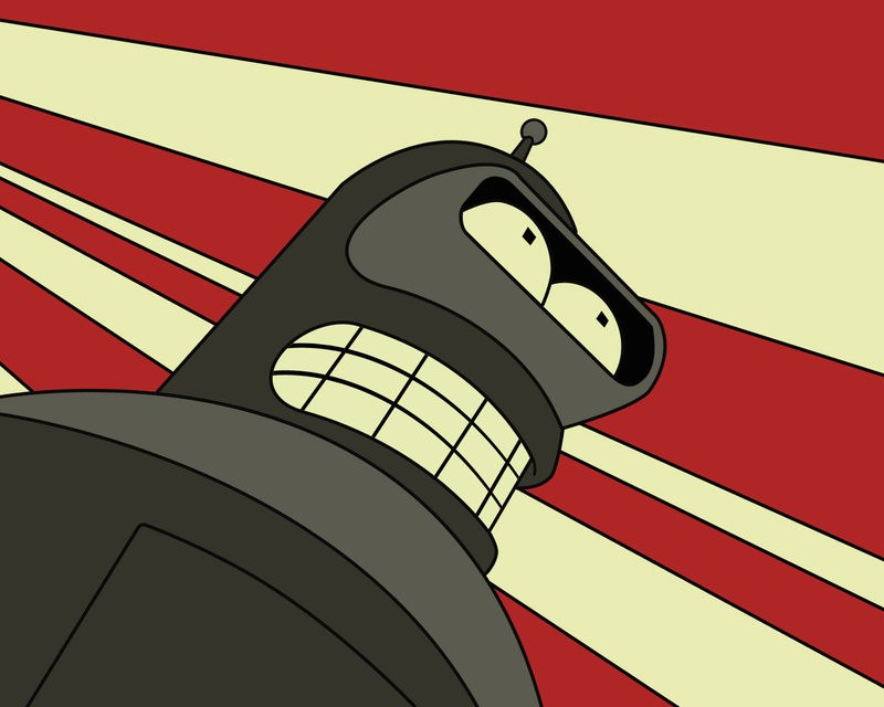 Futurama Bender Anime HD Wallpaper