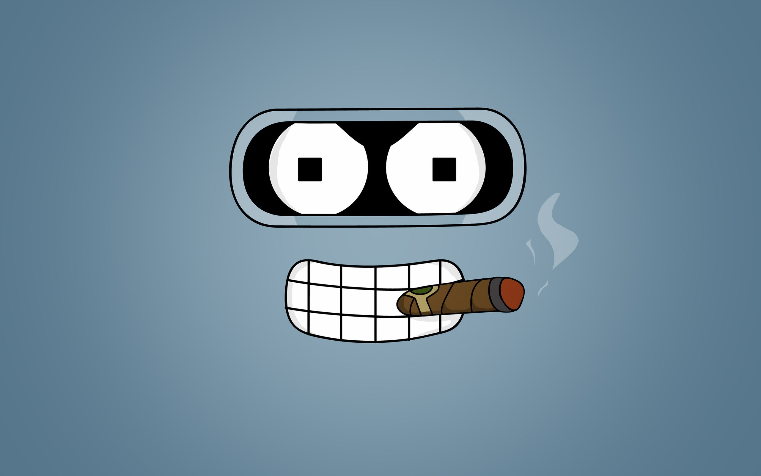 Futurama Bender cigars HD Wallpaper