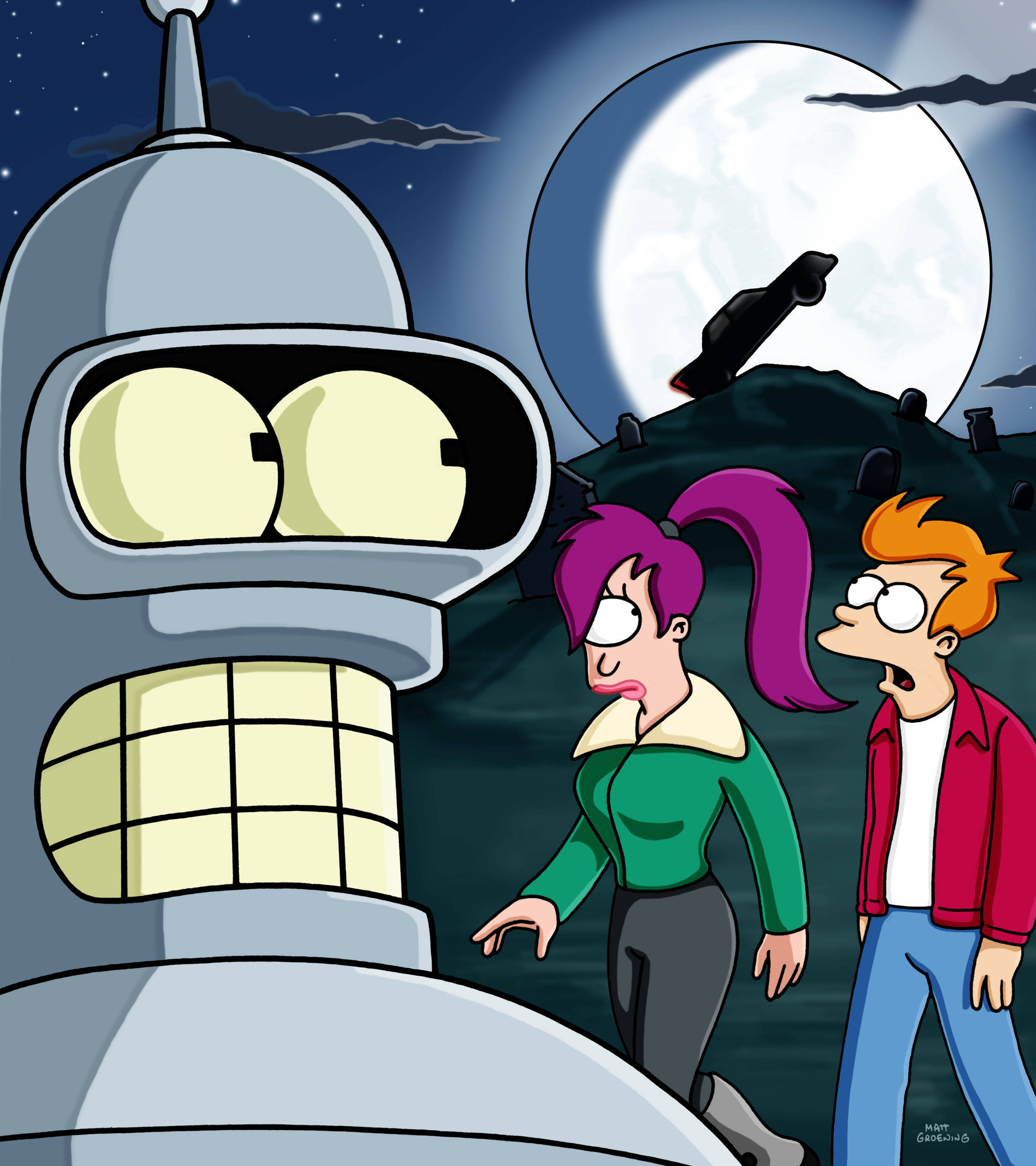 Futurama Bender fry turanga HD Wallpaper