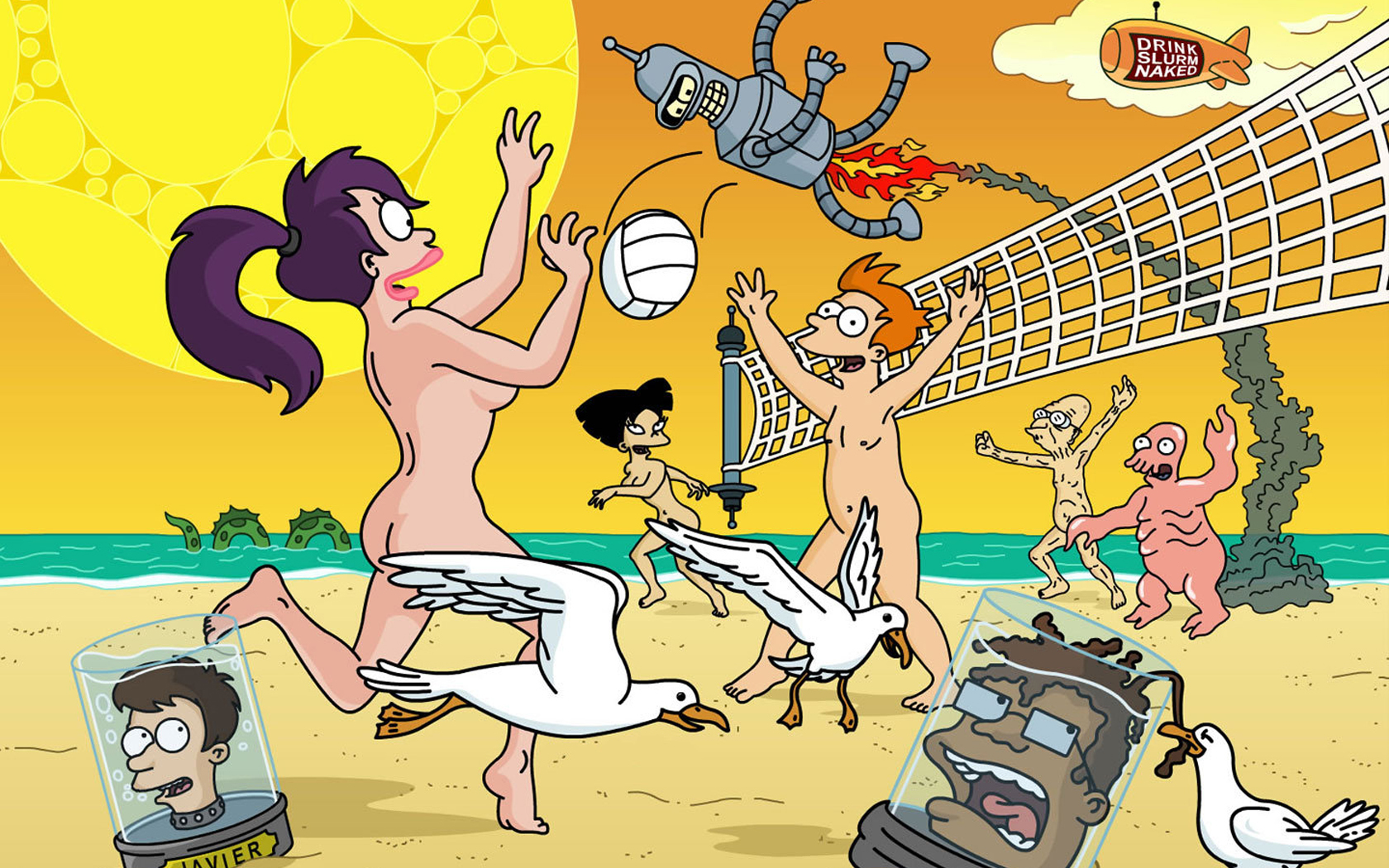 Futurama Bender turanga leela HD Wallpaper