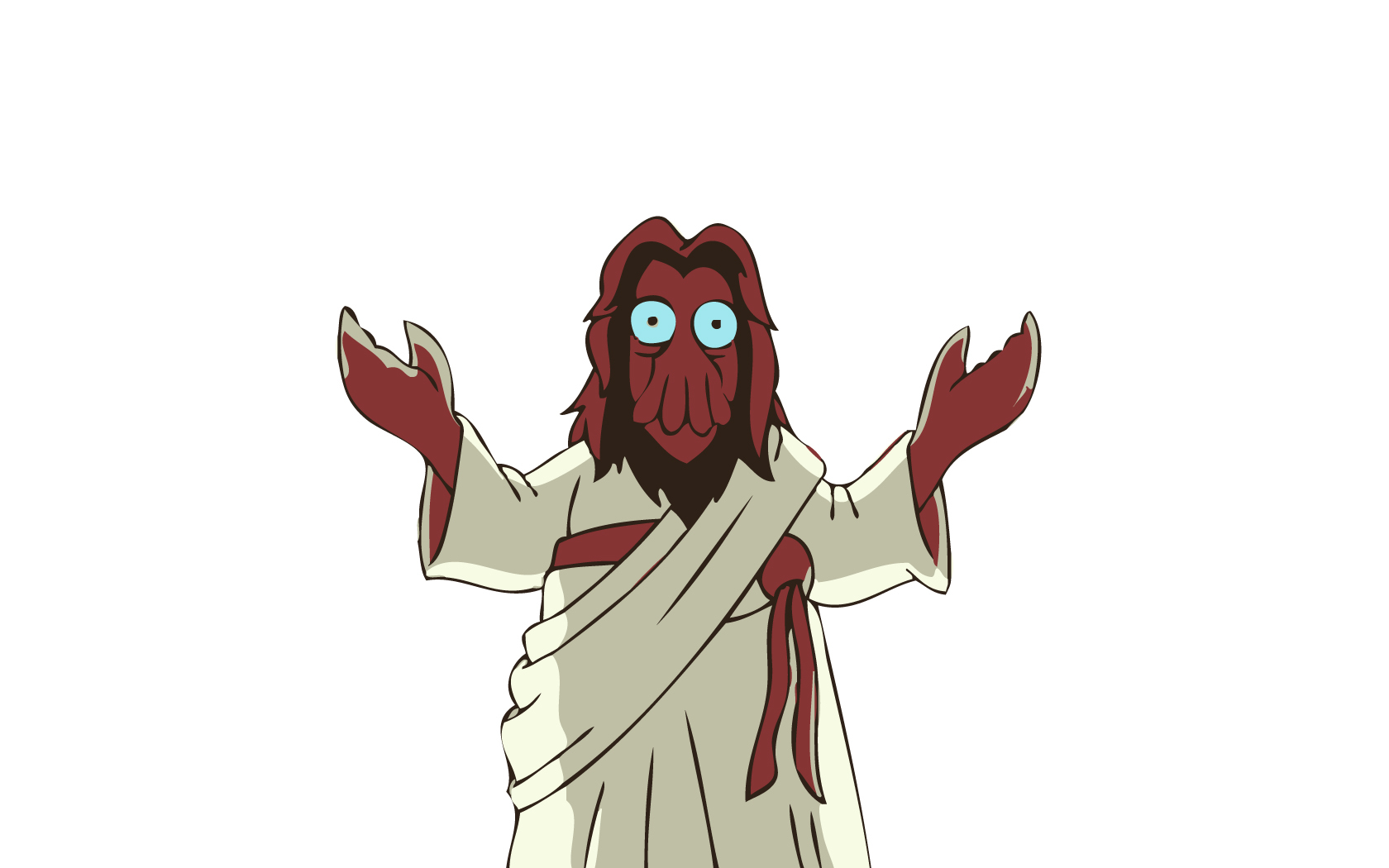 futurama dr zoidberg jesus