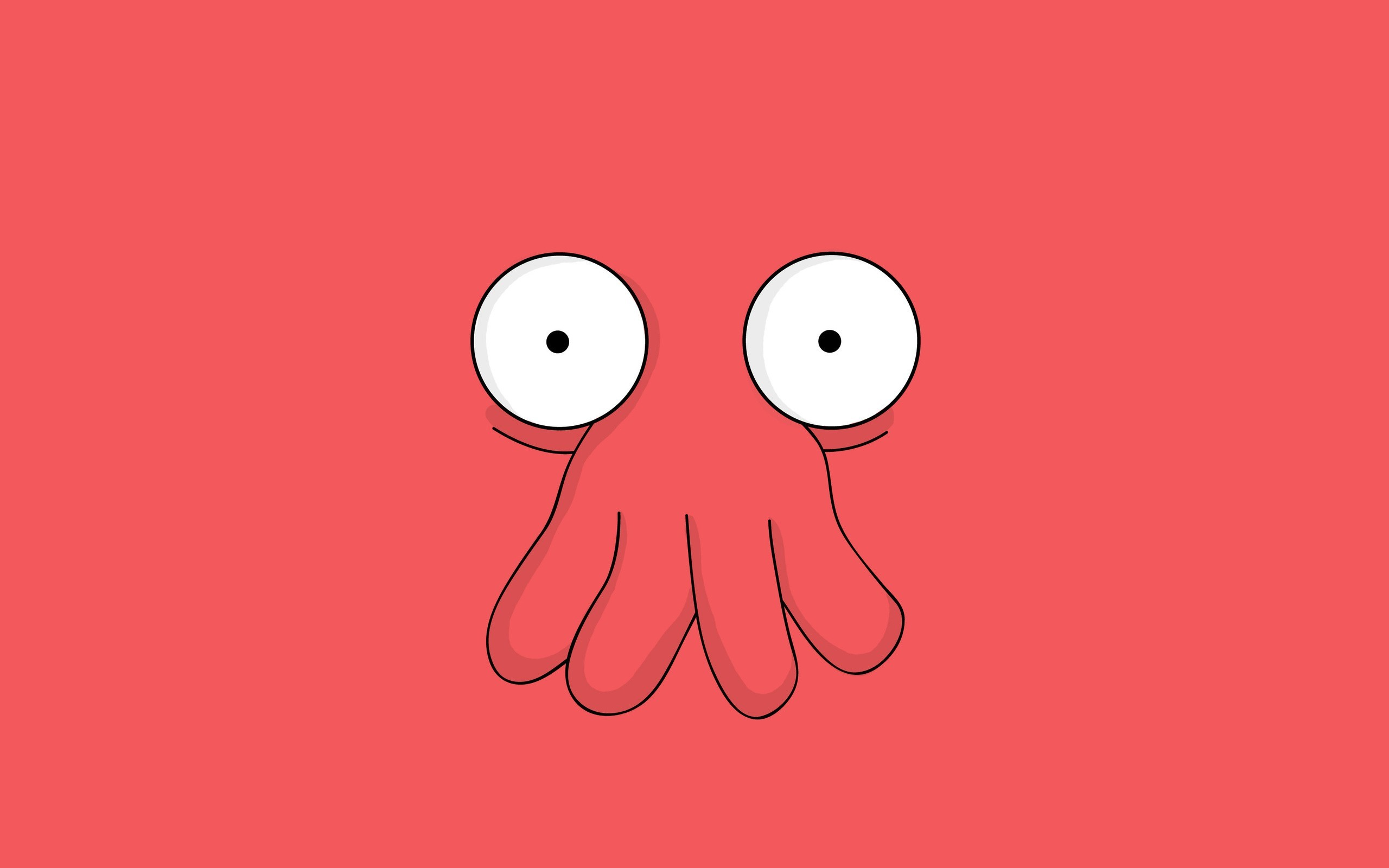 Futurama minimalistic Dr Zoidberg HD Wallpaper