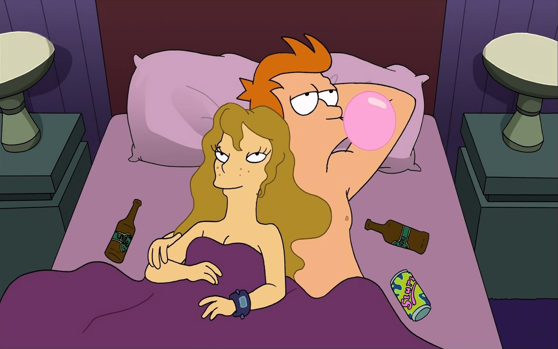 Futurama Slurm bubble gum HD Wallpaper