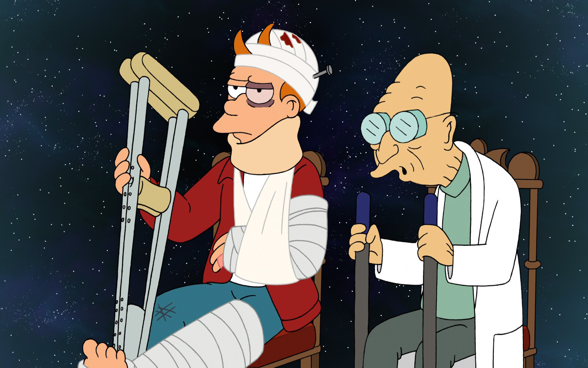 Futurama Stars professor farnsworth HD Wallpaper