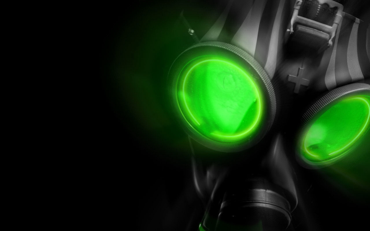 futuristic gas masks HD Wallpaper