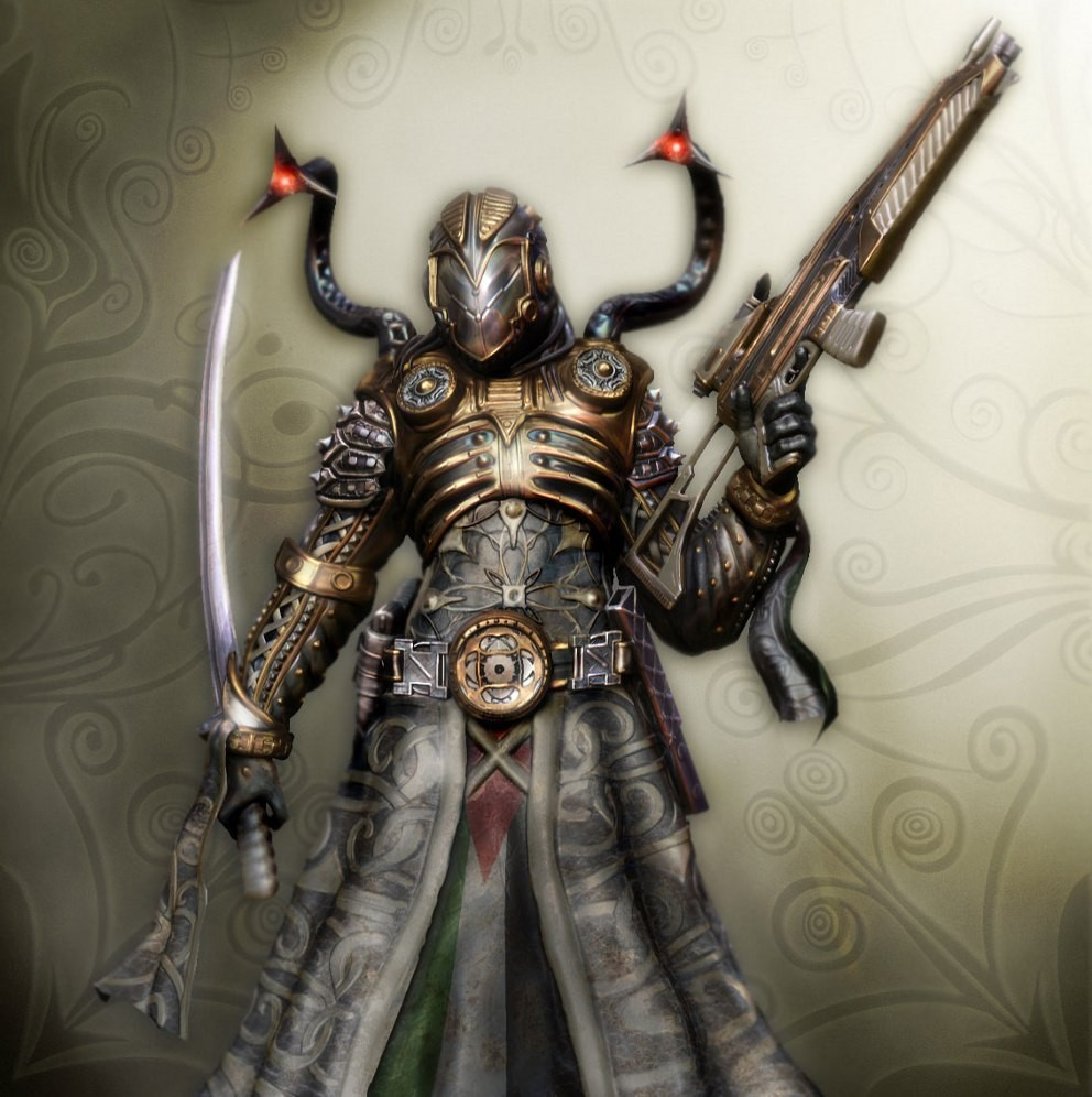 futuristic samurai weapons armor HD Wallpaper