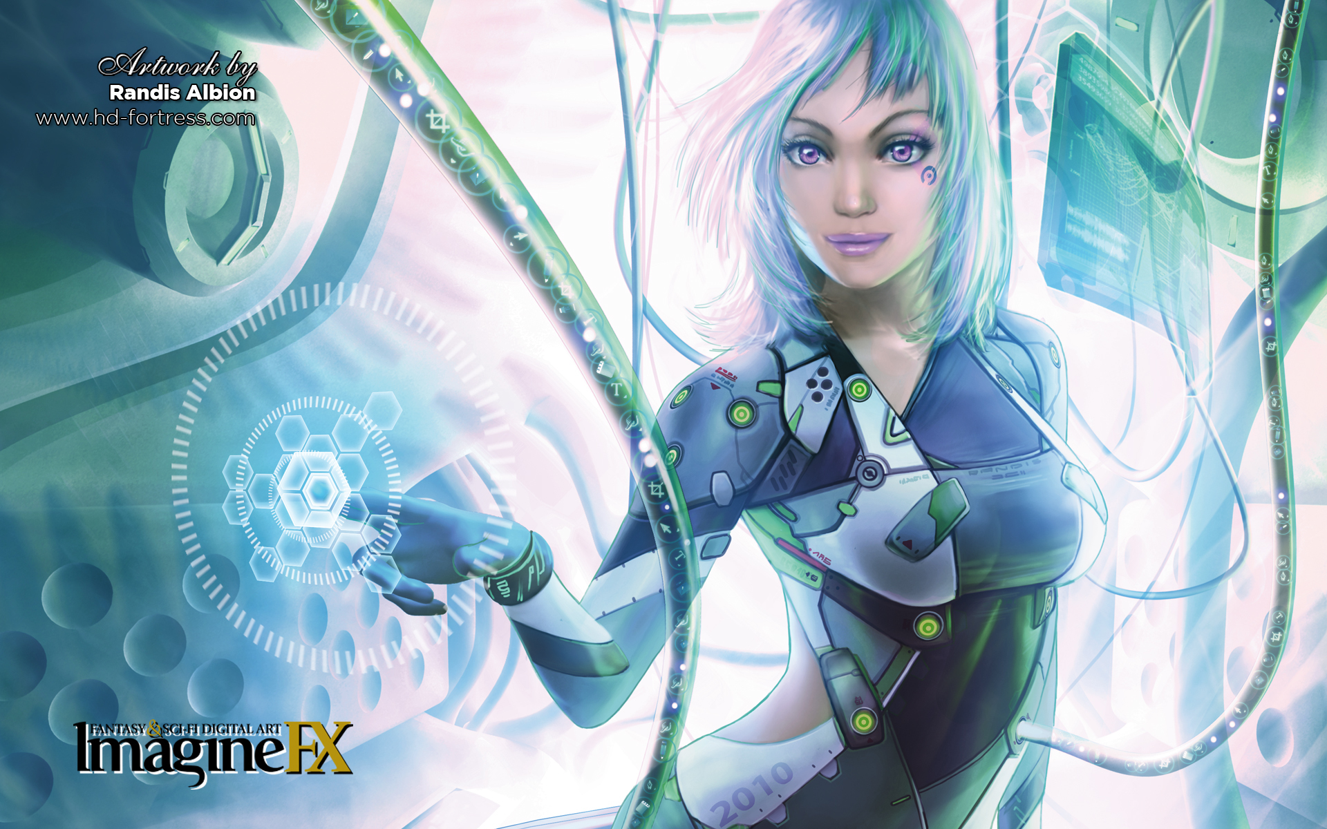 futuristic Technology fantasy art HD Wallpaper